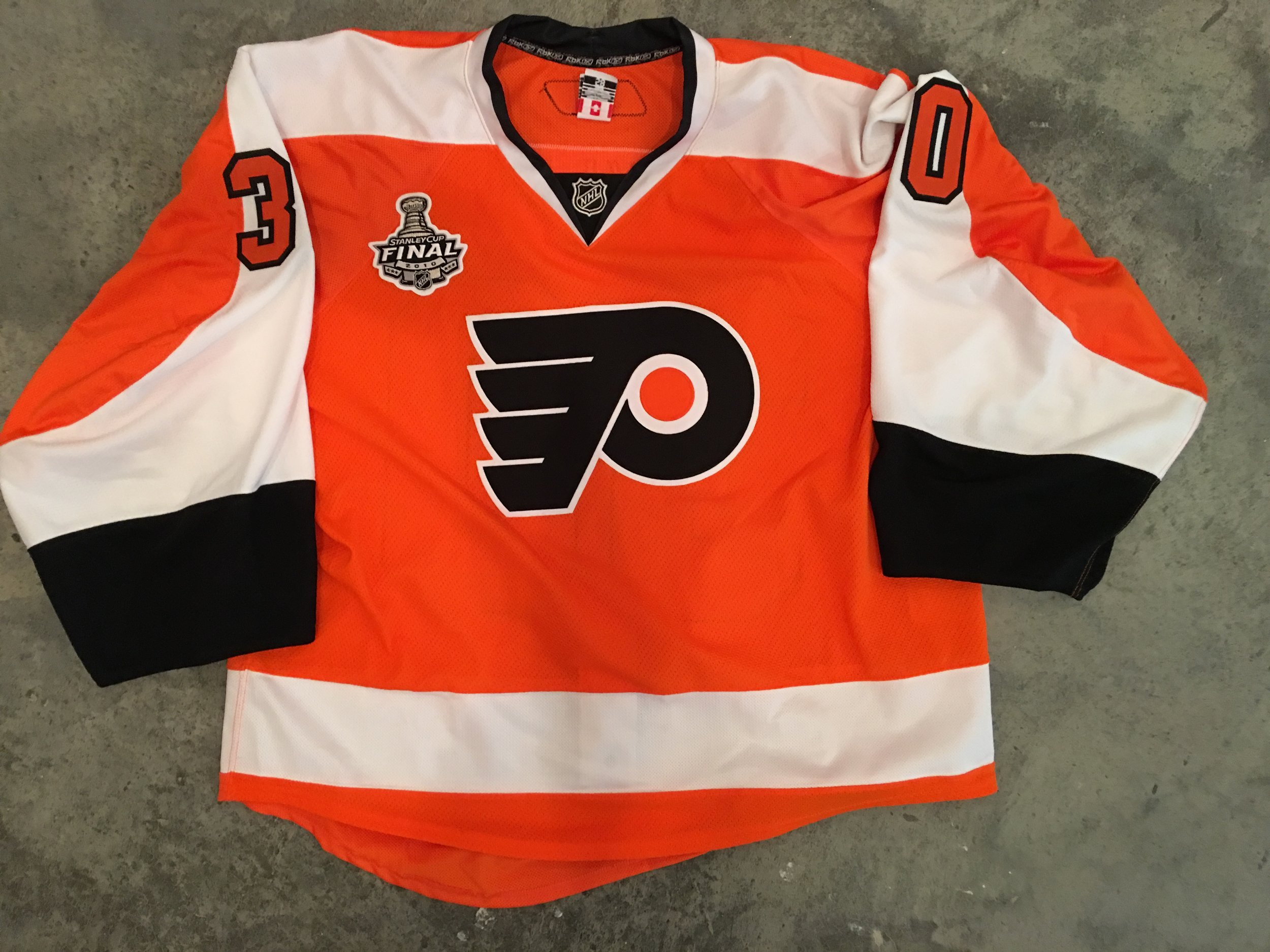 2010 Philadelphia Flyers Stanley Cup Finals Game Issued Home Jersey - Johan Backlund