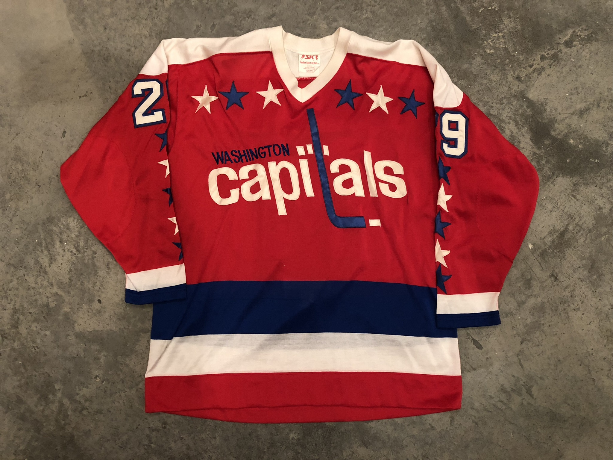 1980-81 Mike Palmateer Washington Capitals game worn jersey