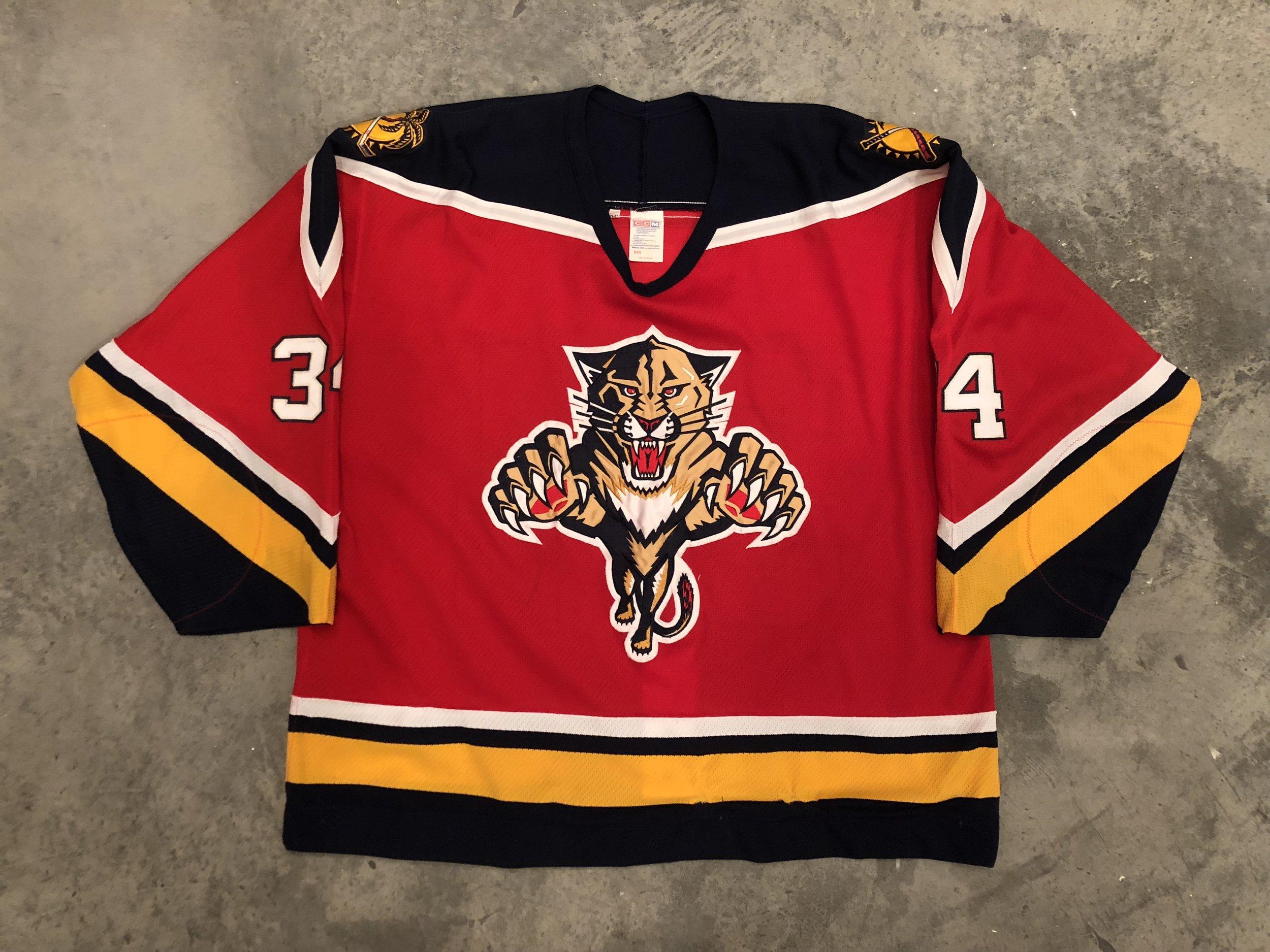 1993-94 Florida Panthers game worn road jersey