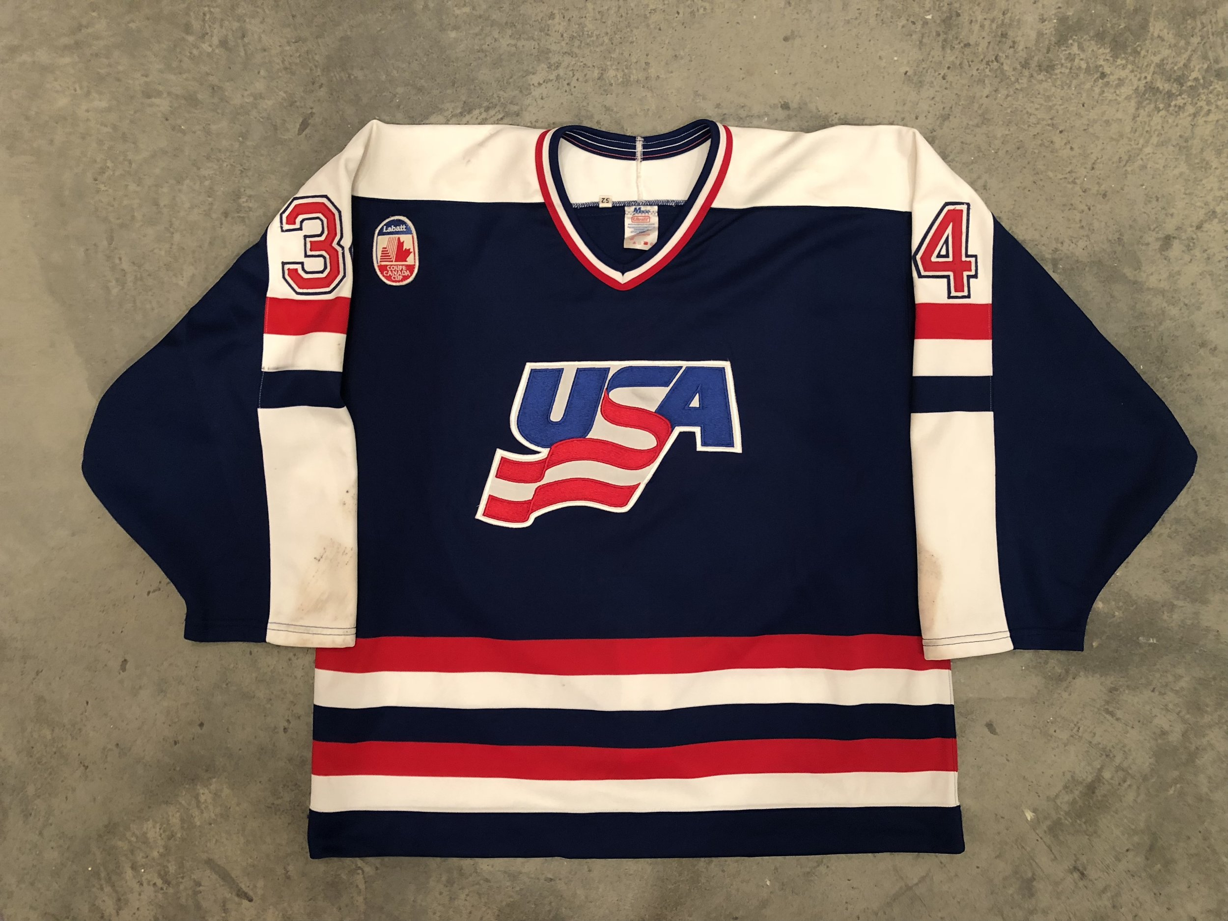 1991 Canada Cup Team USA game worn jersey