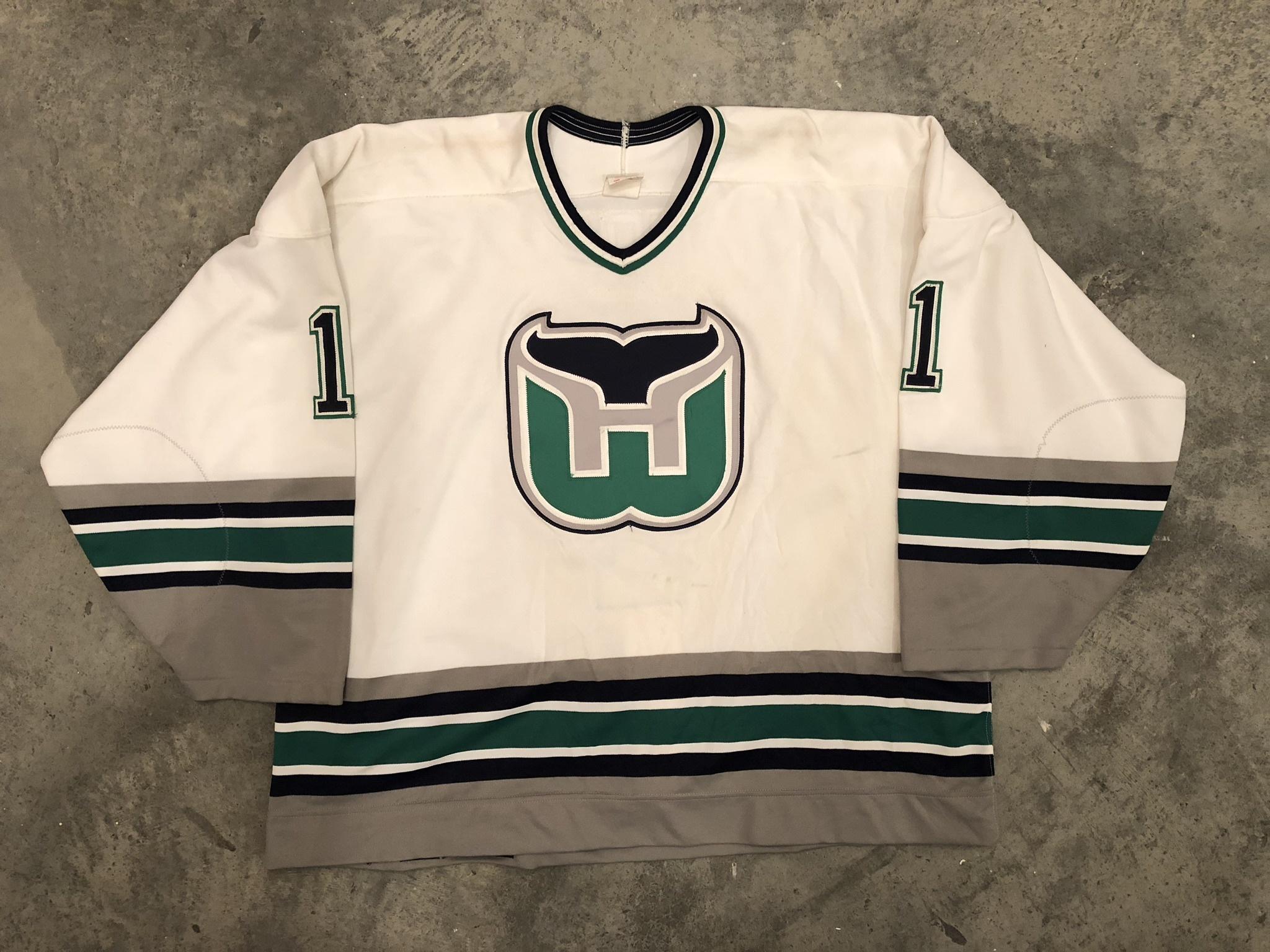 1995-96 Sean Burke Hartford Whalers home jersey