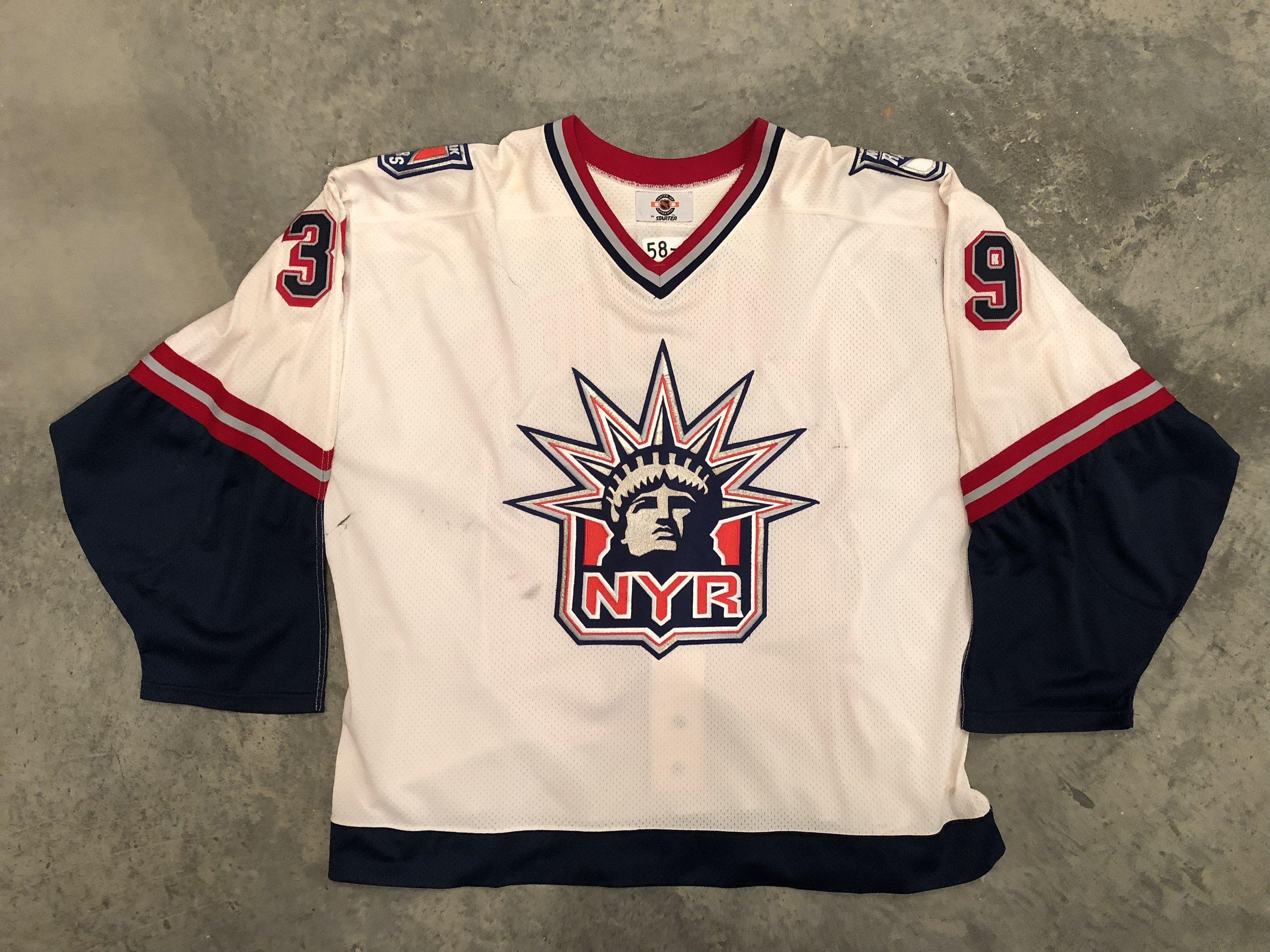 1998-99 Dan Cloutier Game Worn White Liberty Jersey