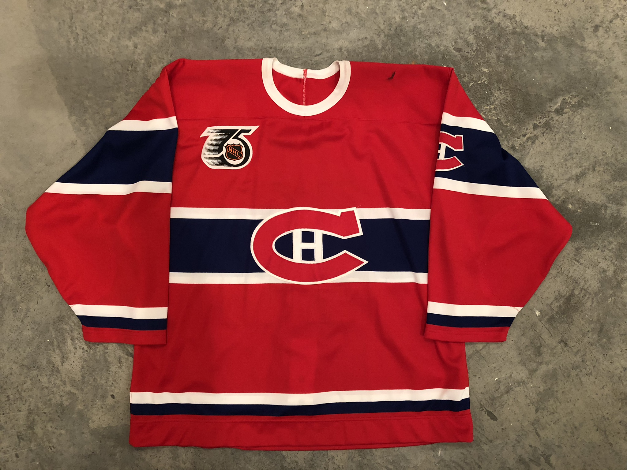 1991-92 Andre Racicot Montreal Canadiens TBTC Game Worn Jersey