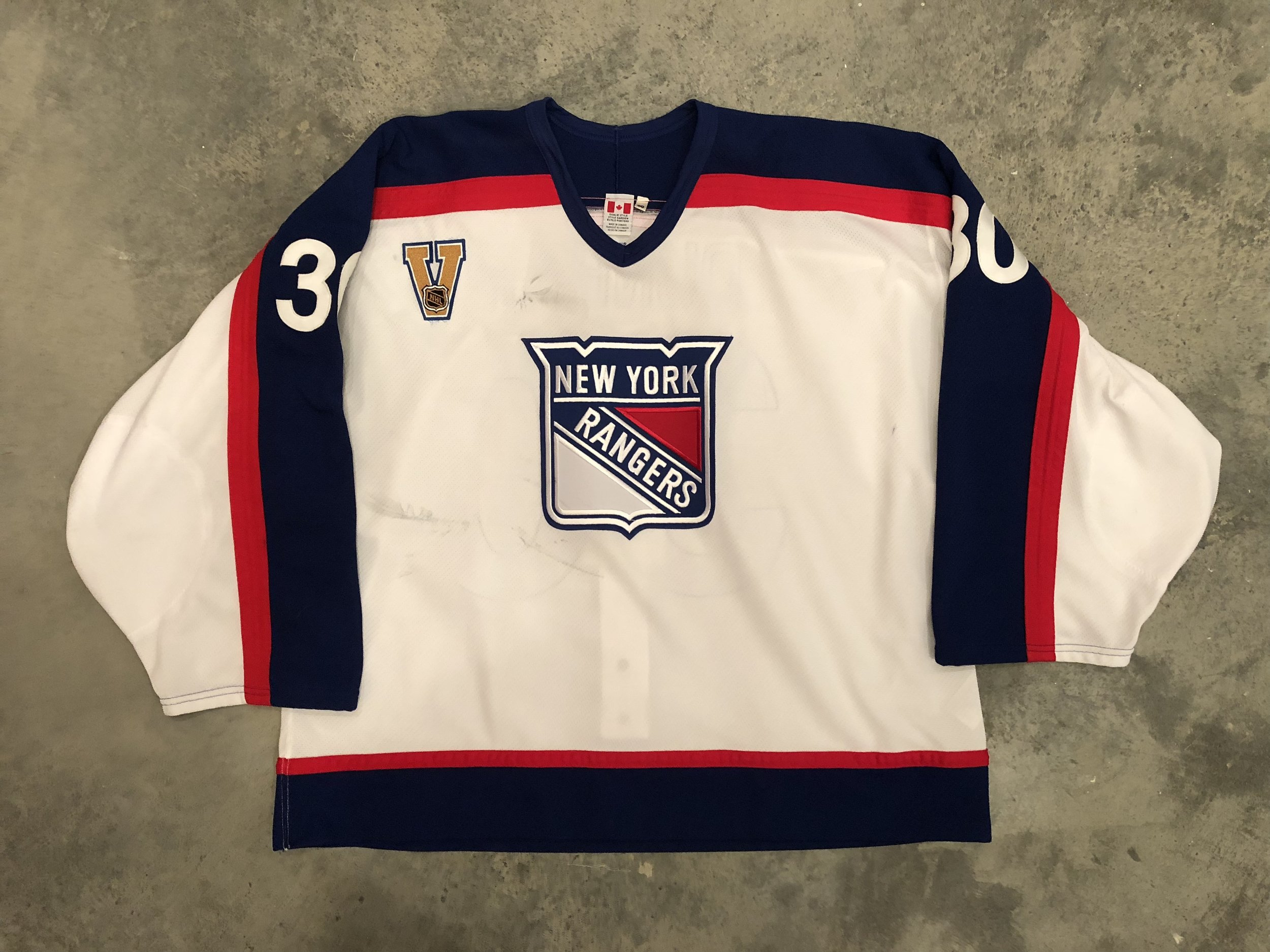 2003-04 Mike Dunham New York Rangers Vintage Home Game Worn Jersey