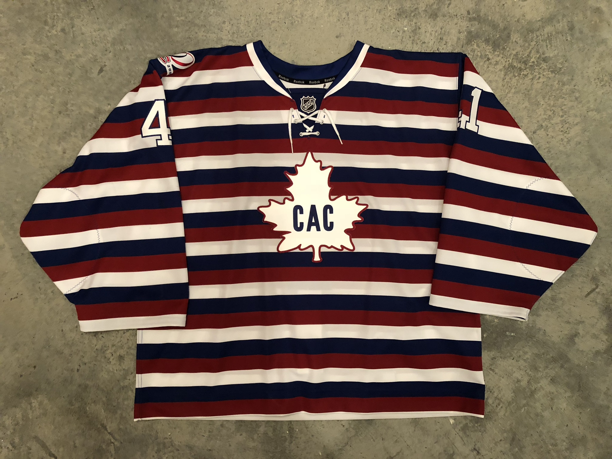 2008-09 Jaroslav Halak Montreal Canadiens 1912-13 Centennial Game Worn Jersey