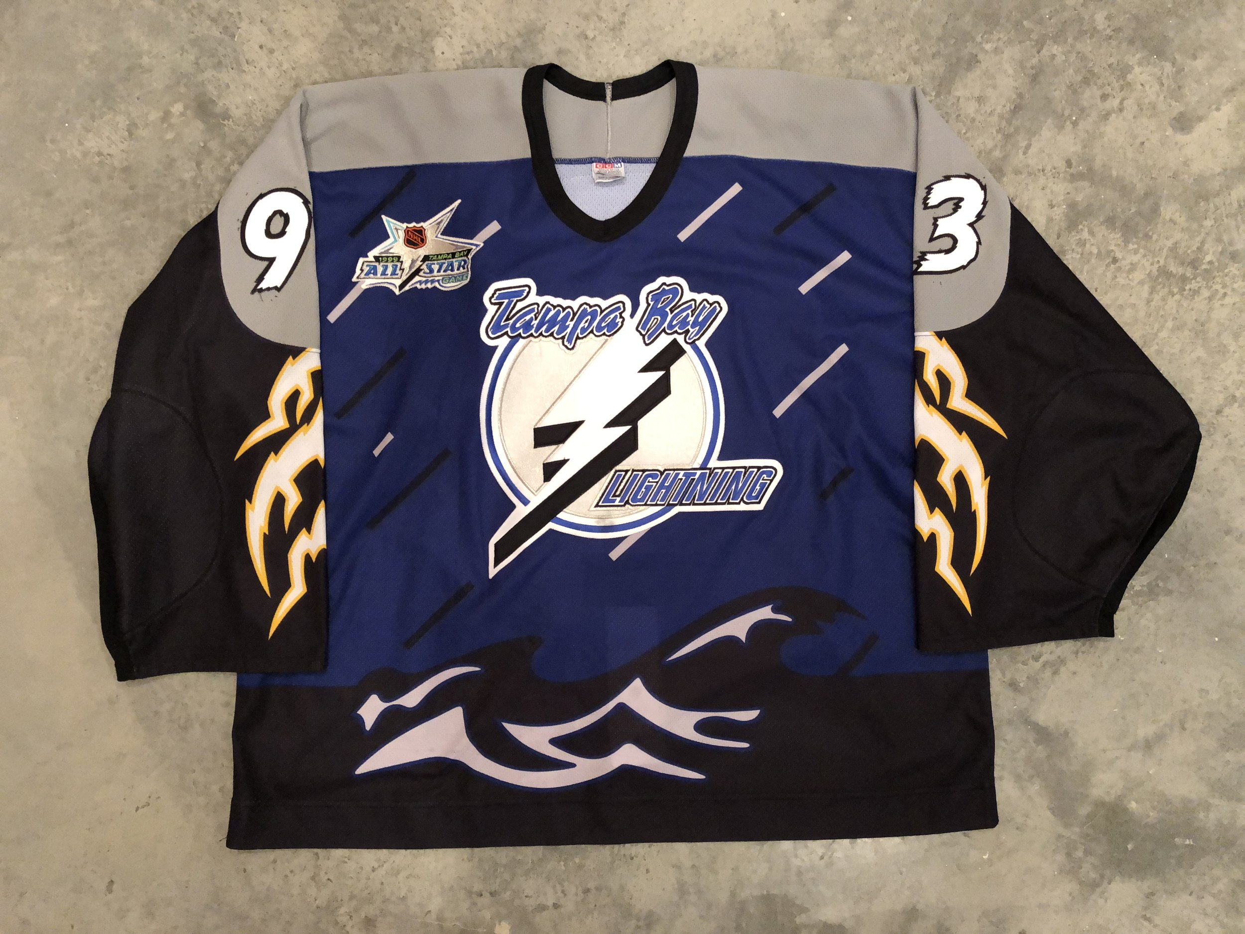 1998-99 Darren Puppa Tampa Bay Lightning Alternate Jersey