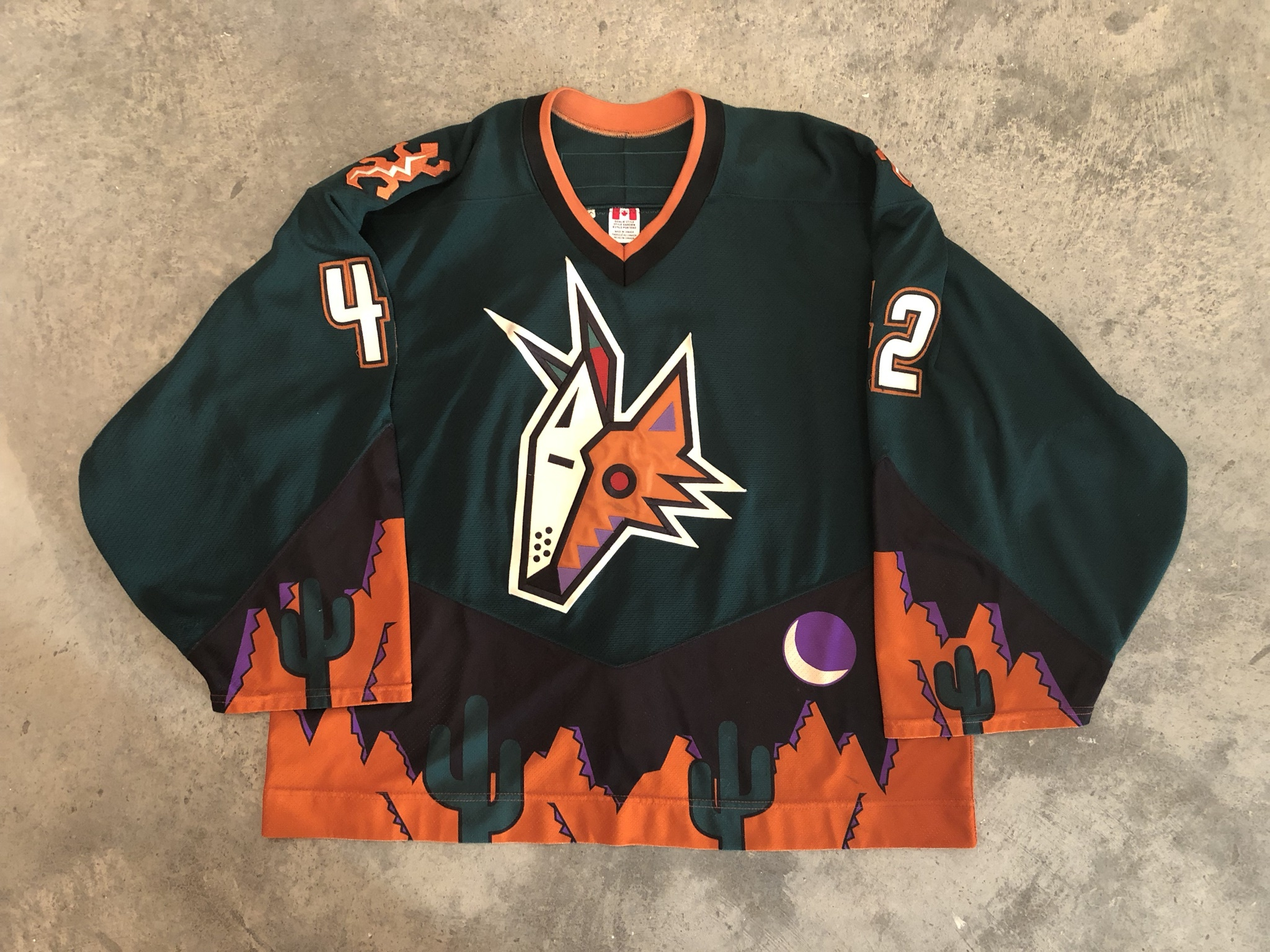 2000-01 Robert Esche Pheonix Coyotes Alternate Game Worn Jersey