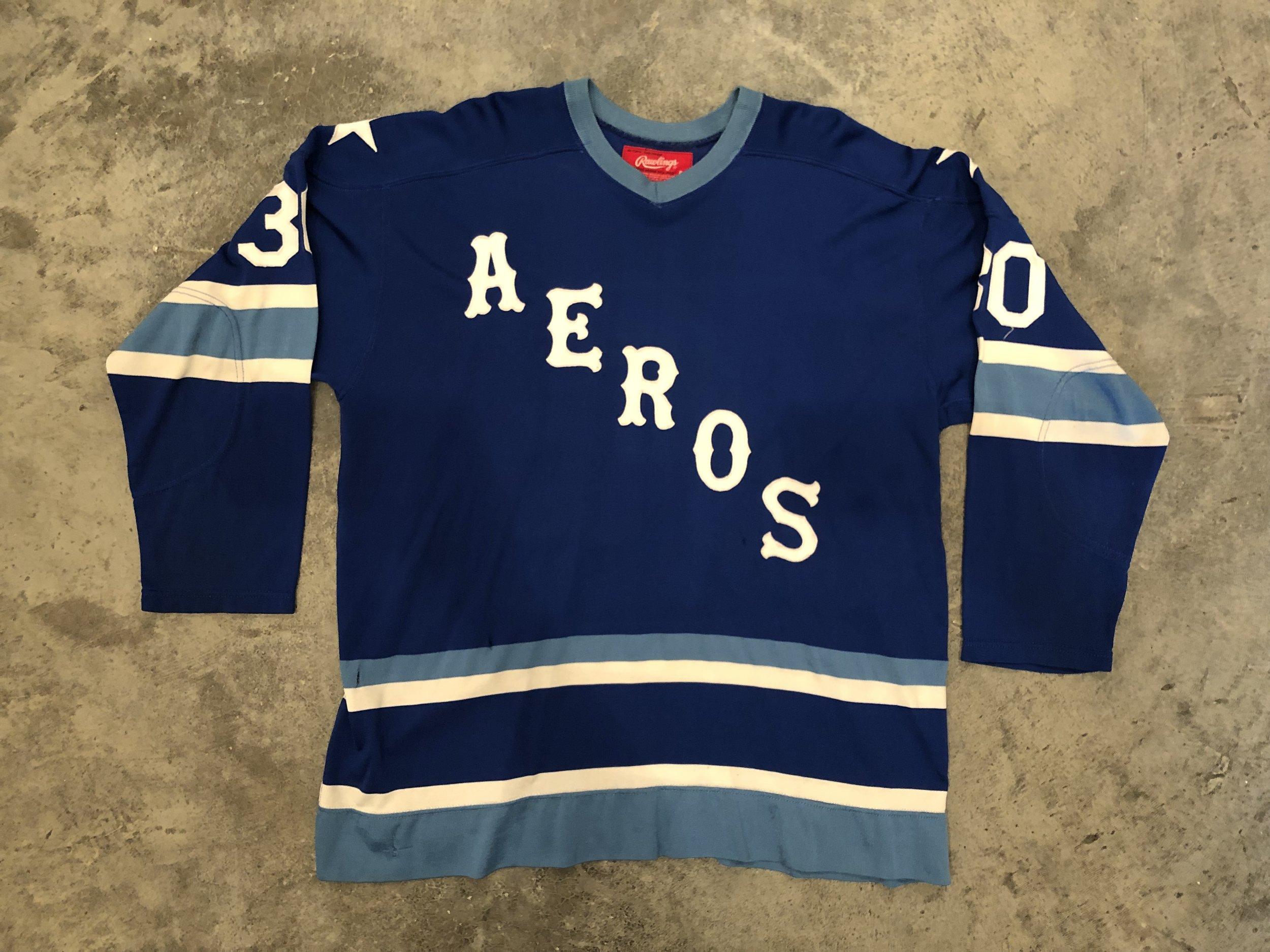 1974-75 Wayne Rutledge Houston Aeros game worn road jersey