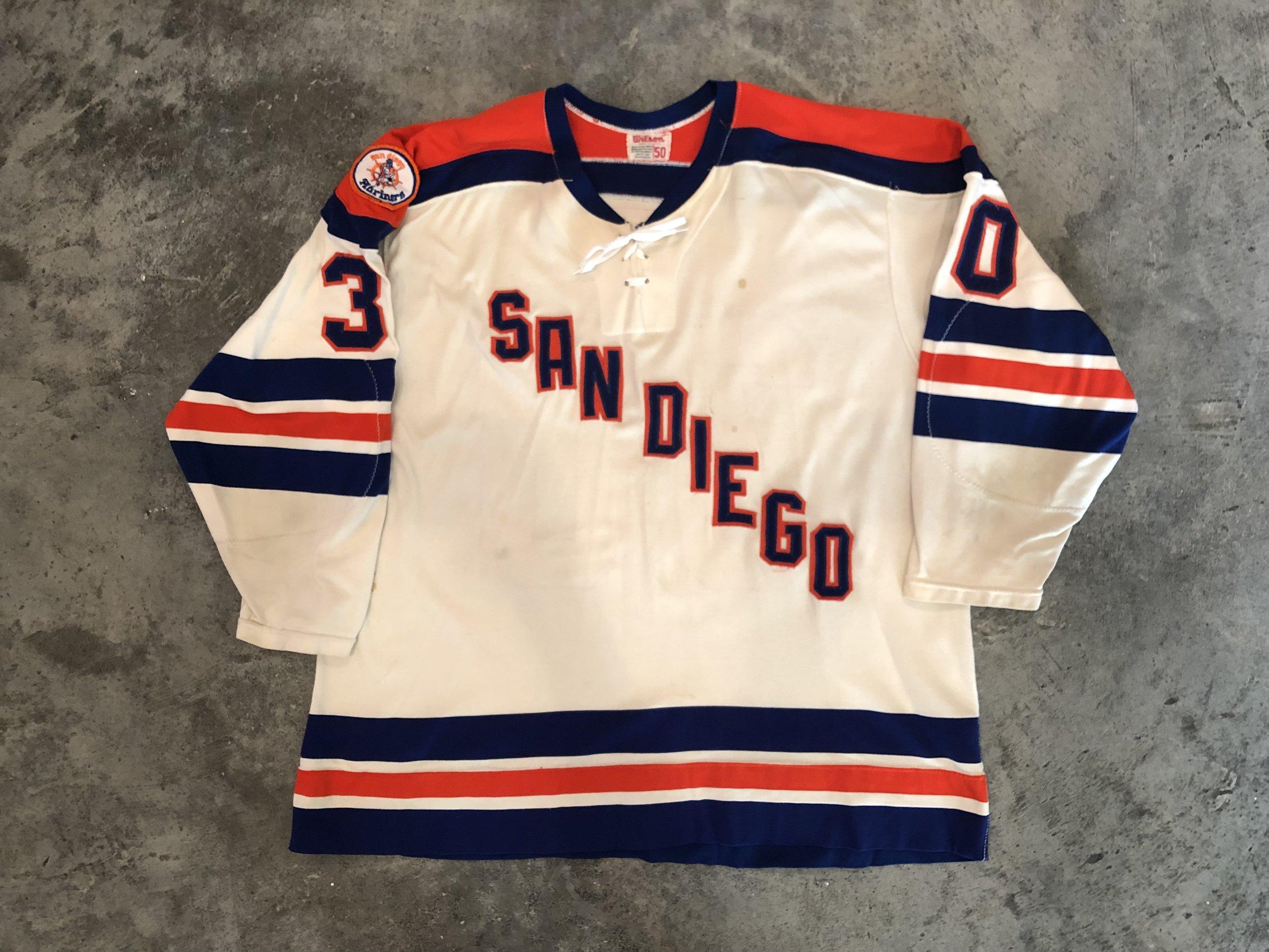 1975-76 Ken Lockett San Diego Mariners game worn home jersey