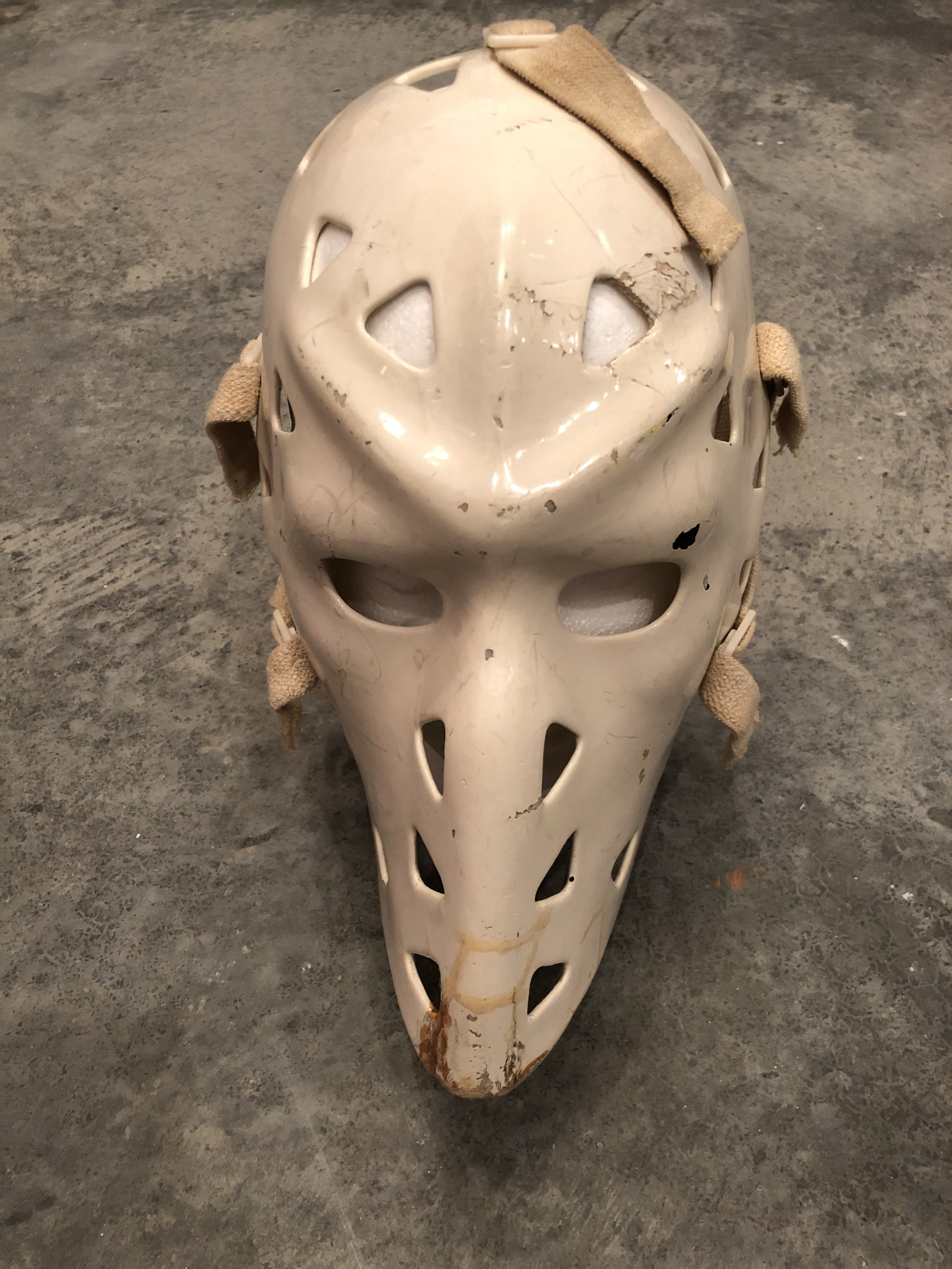 1980's Mike Liut St. Louis Blues game worn mask