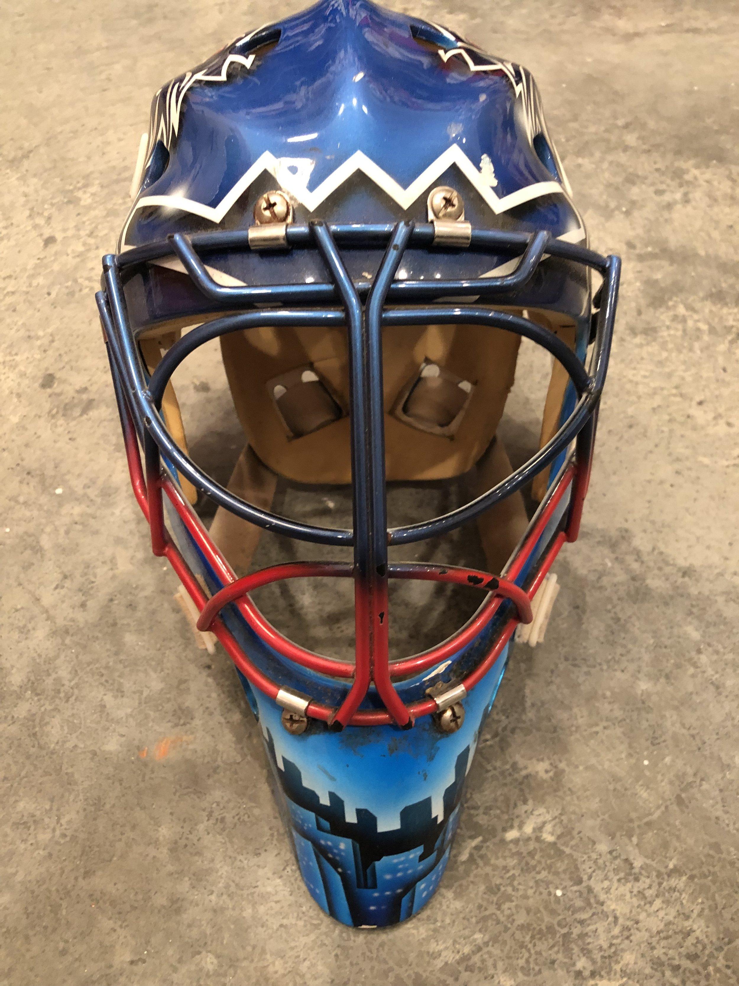 2005-06 Kevin Weekes NY Rangers game worn mask