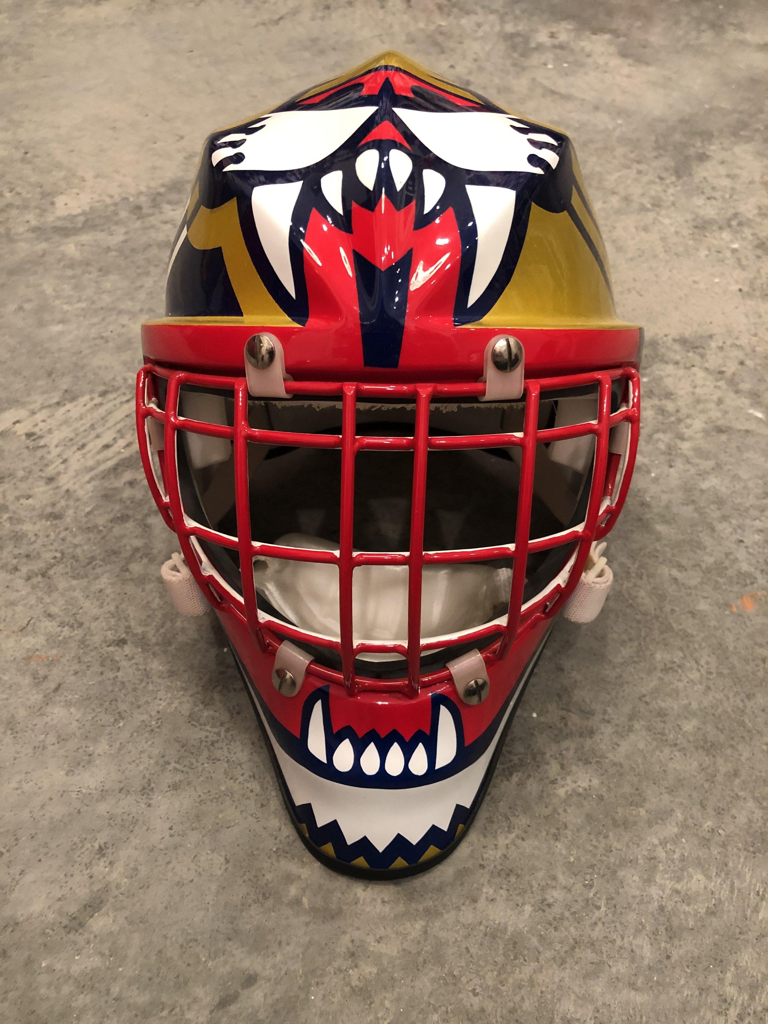 1996 John Vanbiesbrouck Florida Panthers game issued mask