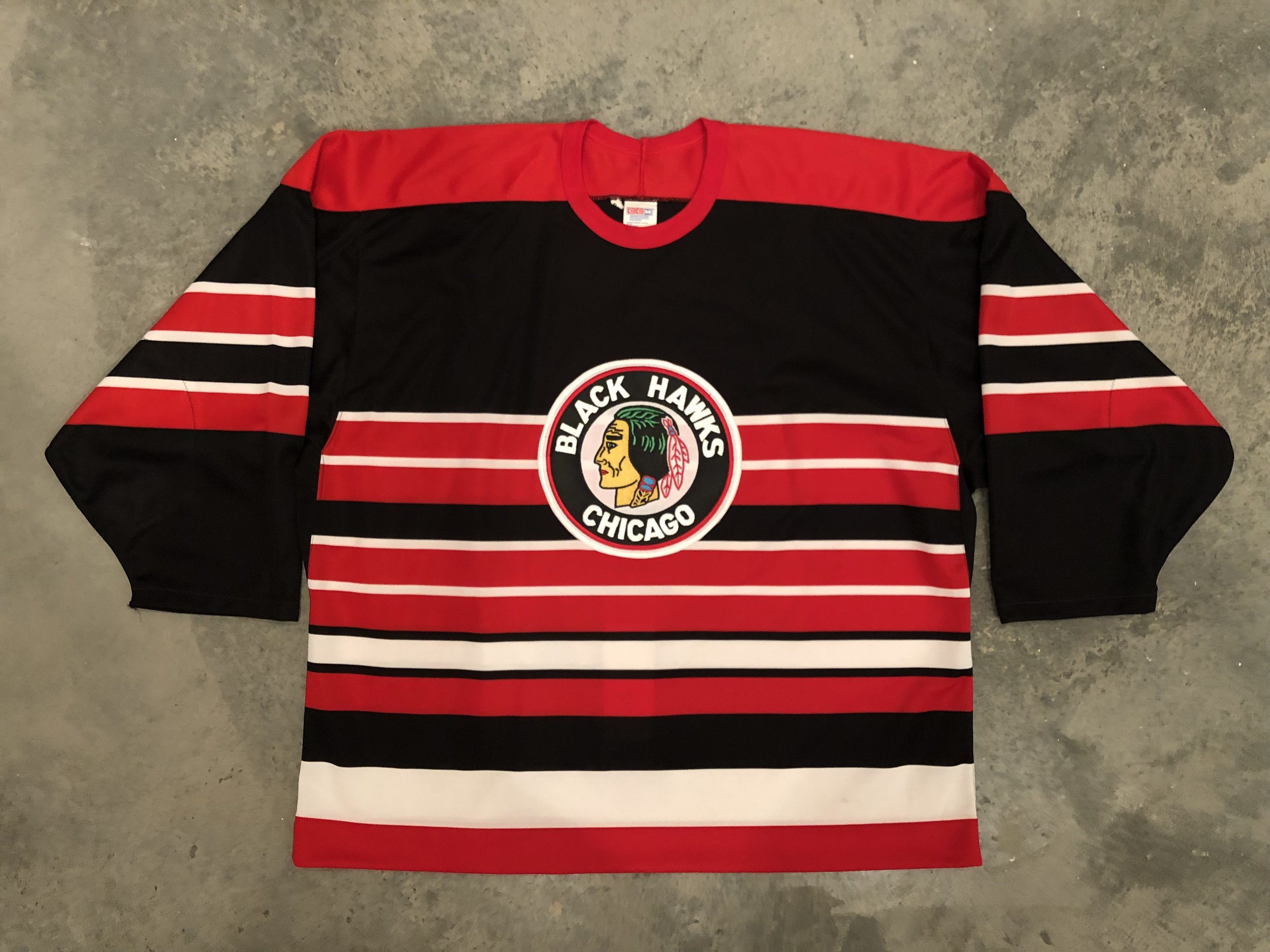 1993-94 Jeff Hackett Chicago Blackhawks TBTC Game Worn Jersey