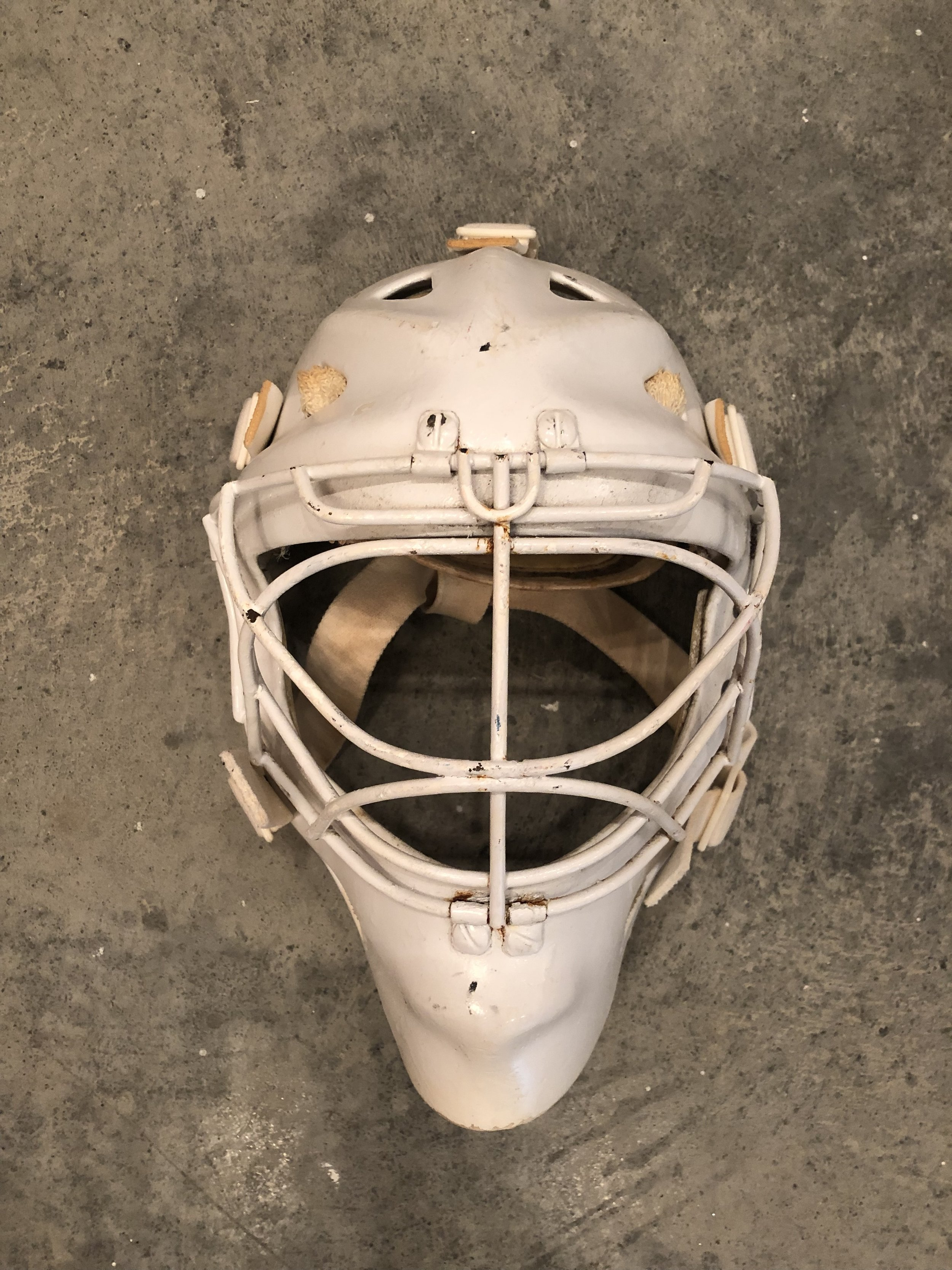 1983-84 Steve Baker NY Rangers and Maine Mariners game worn mask