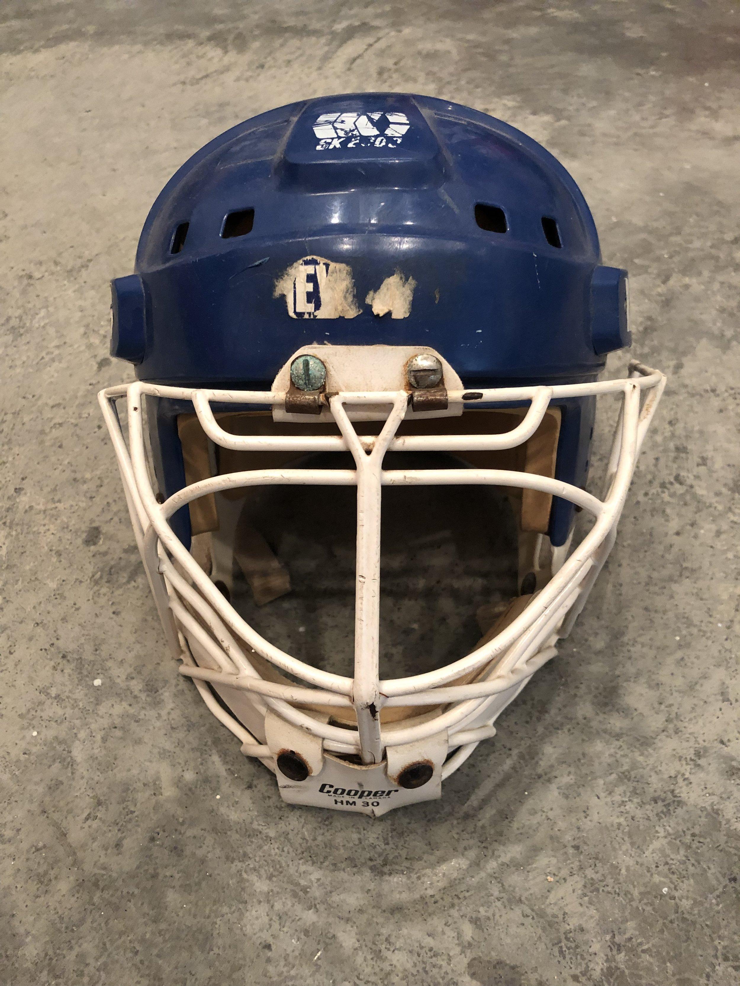 1989-90 Mike Richter New York Rangers game worn rookie helmet