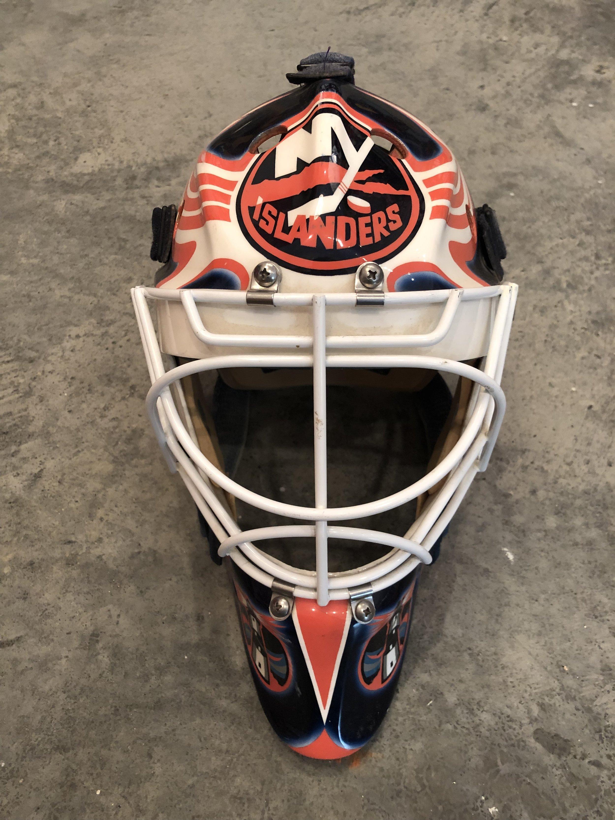 1998-99 Marcel Cousineau New York Islanders game worn mask