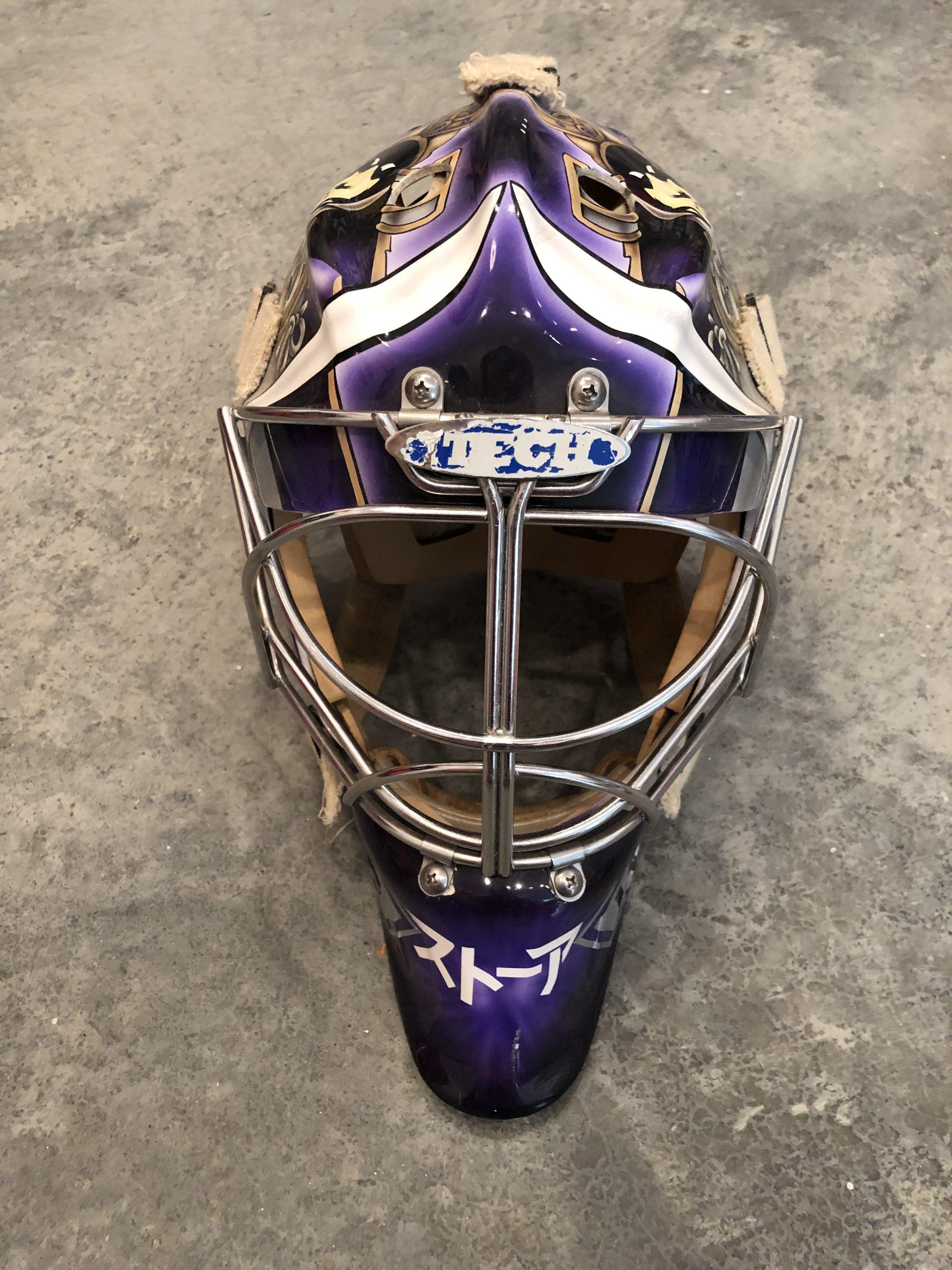 2001-02 Jamie Storr Los Angeles Kings game worn mask