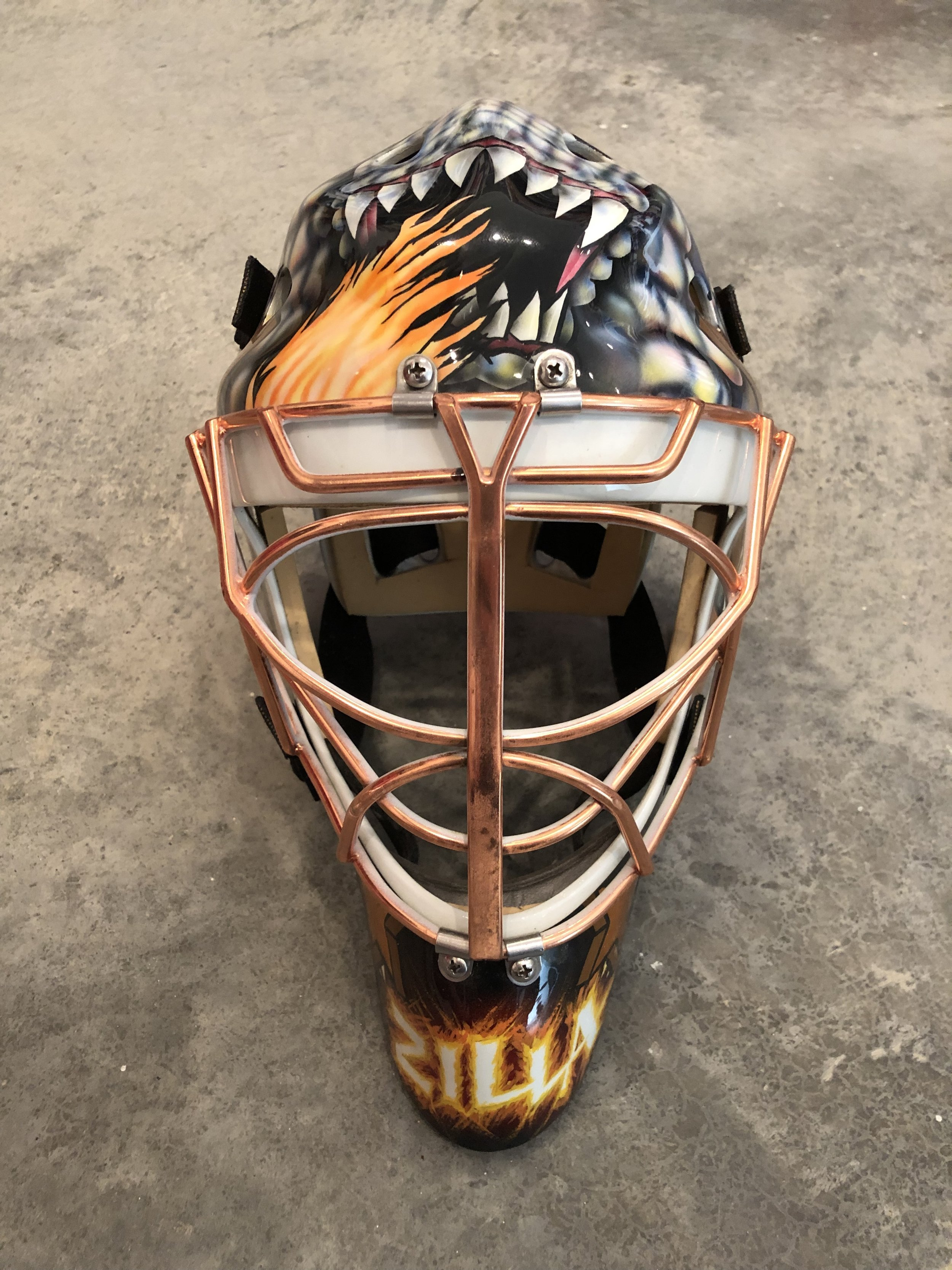 2002-03 Olaf Kolzig Washington Capitals game worn mask