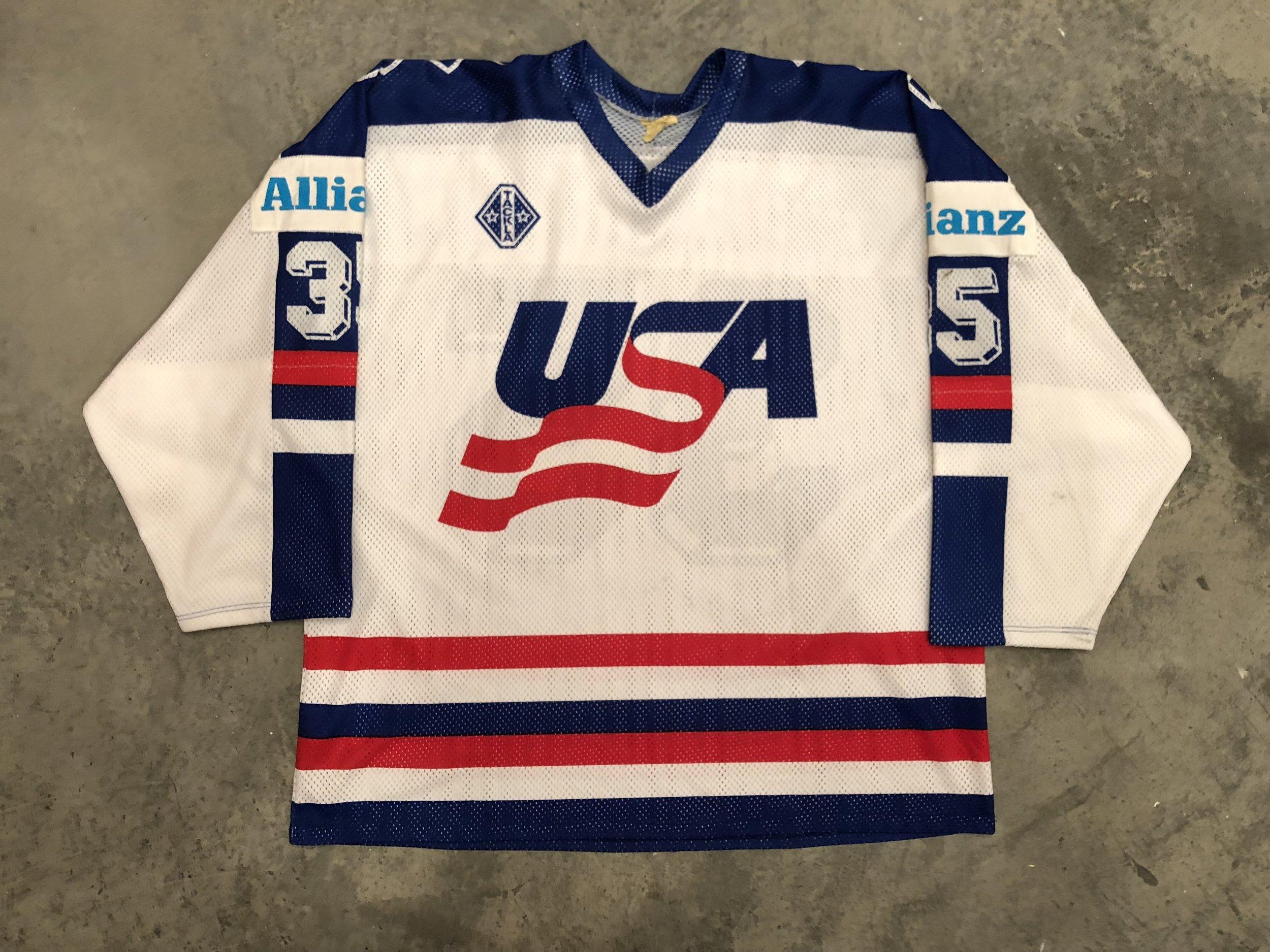 1991 World Championships John Vanbiesbrouck Team USA Game Worn Jersey