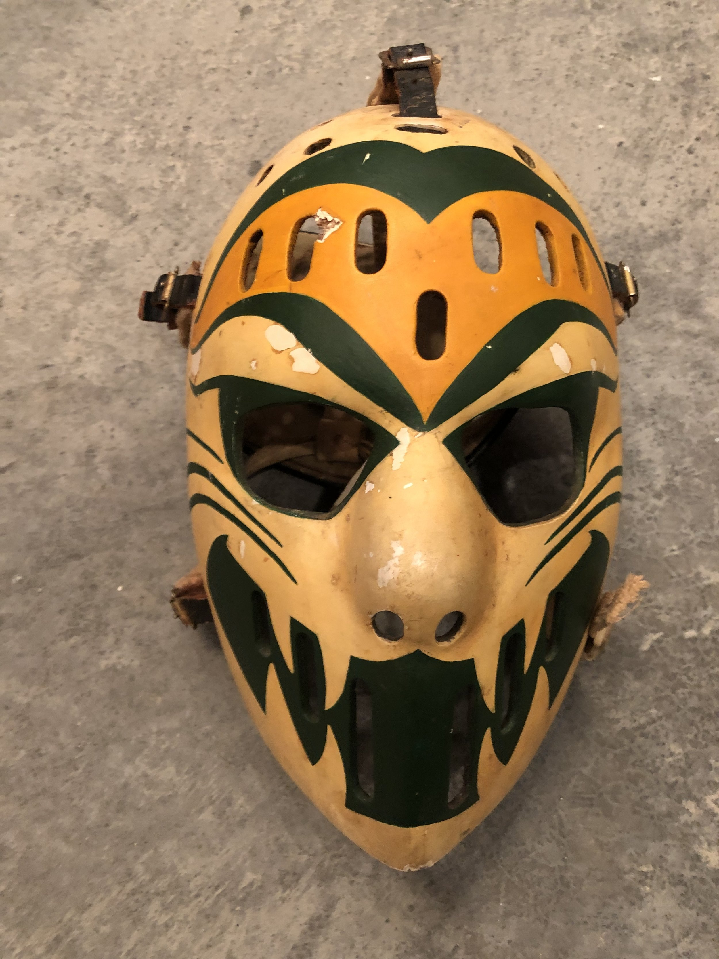 1974-75 Dave Dryden WHA Chicago Cougars game worn mask