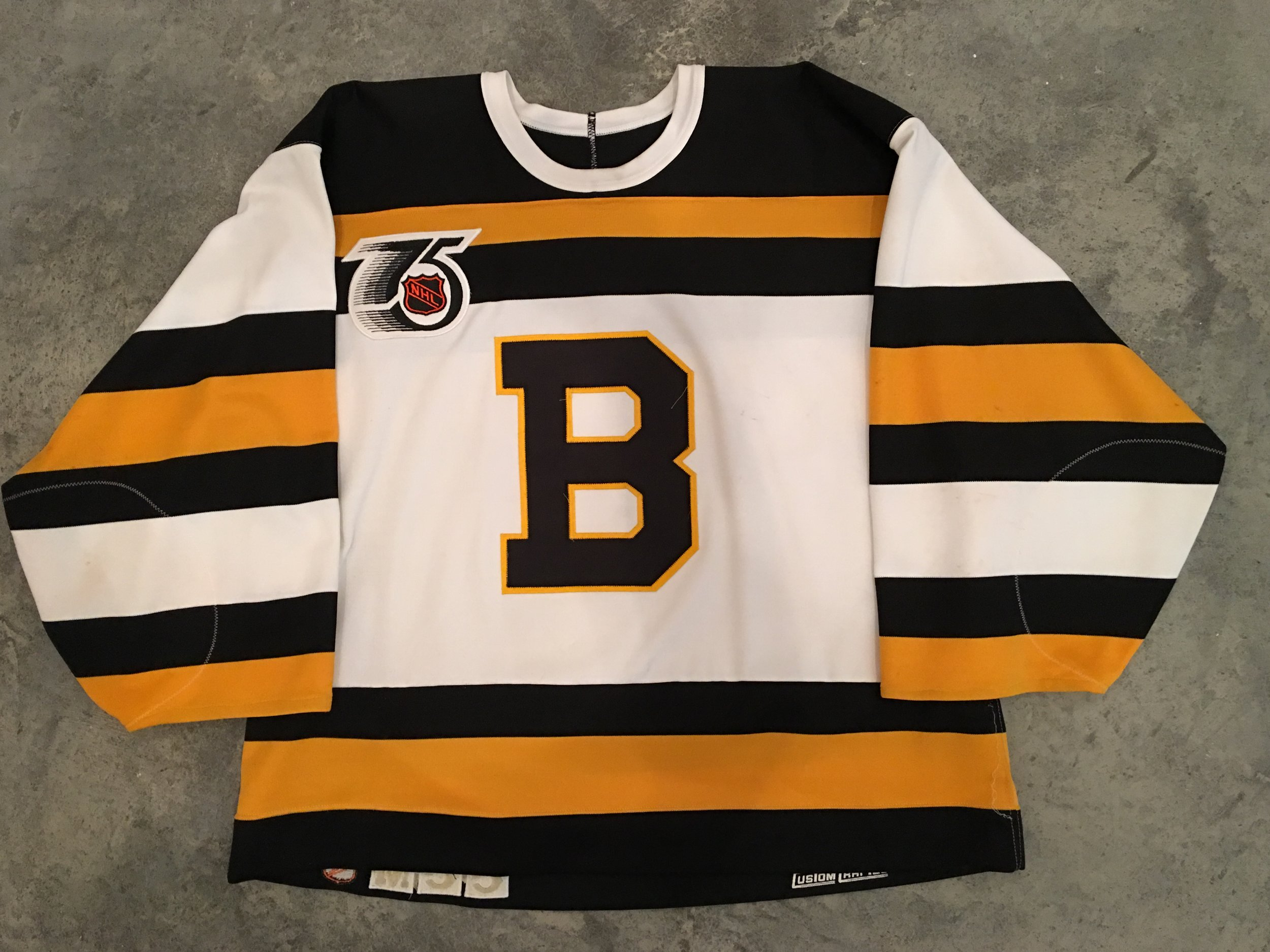 1991-92 Andy Moog Boston Bruins TBTC Game Worn Jersey