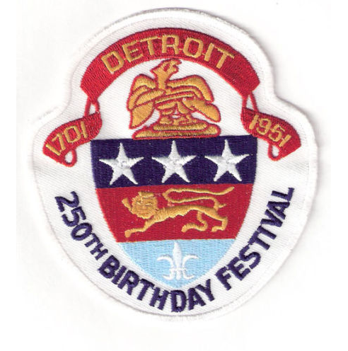 WANTED - The Wings wore this patch during the calendar year of 1951 to celebrate the 250th Anniversary of their hometown Detroit.