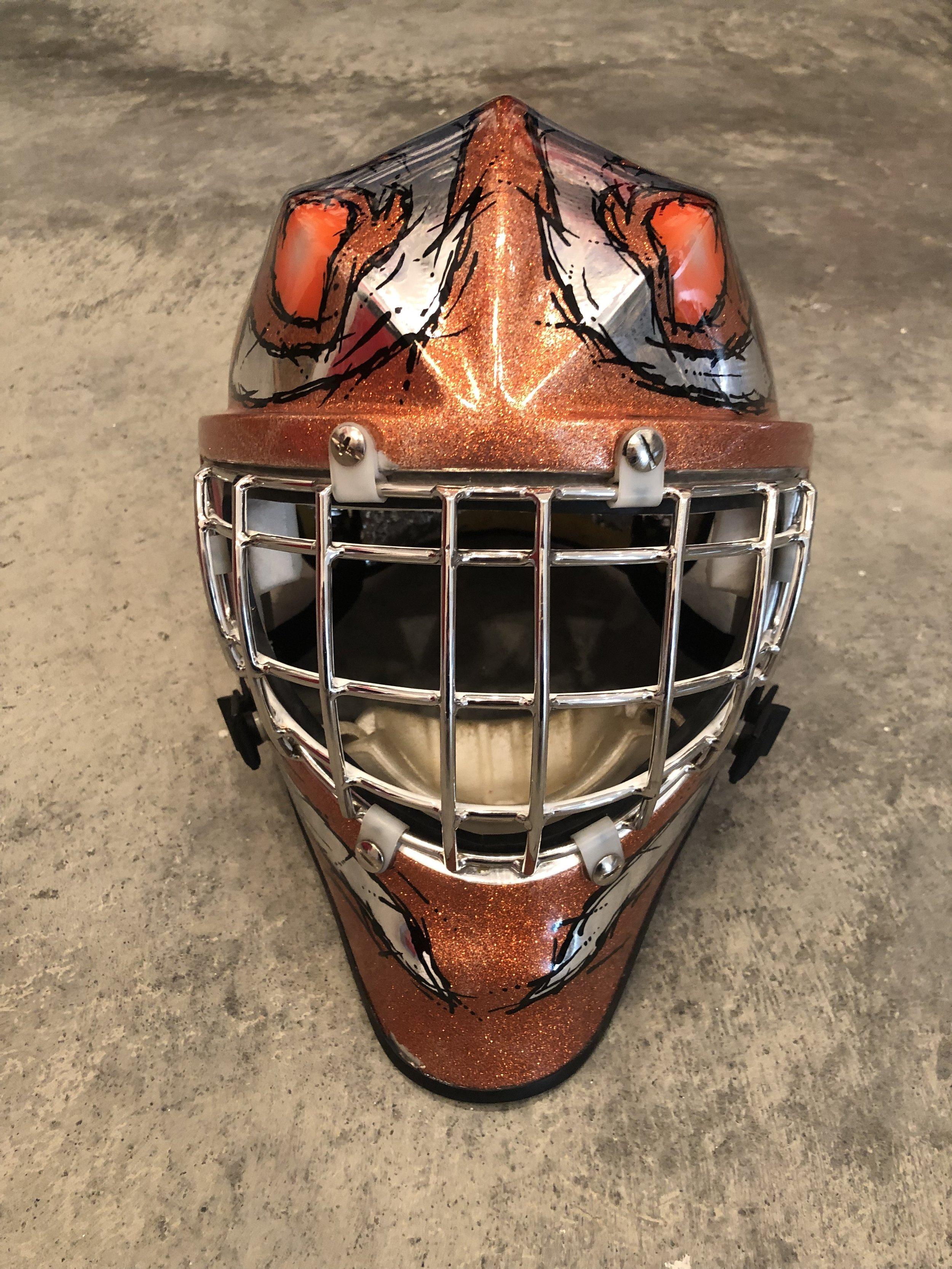 1998-99 Philadelphia Flyers game used masks