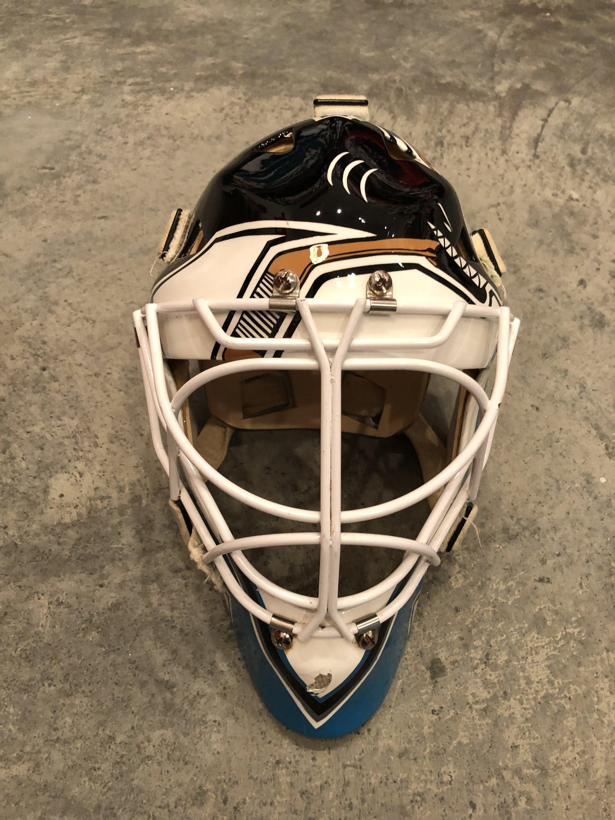 1997-97 Mike Vernon San Jose Sharks game worn mask