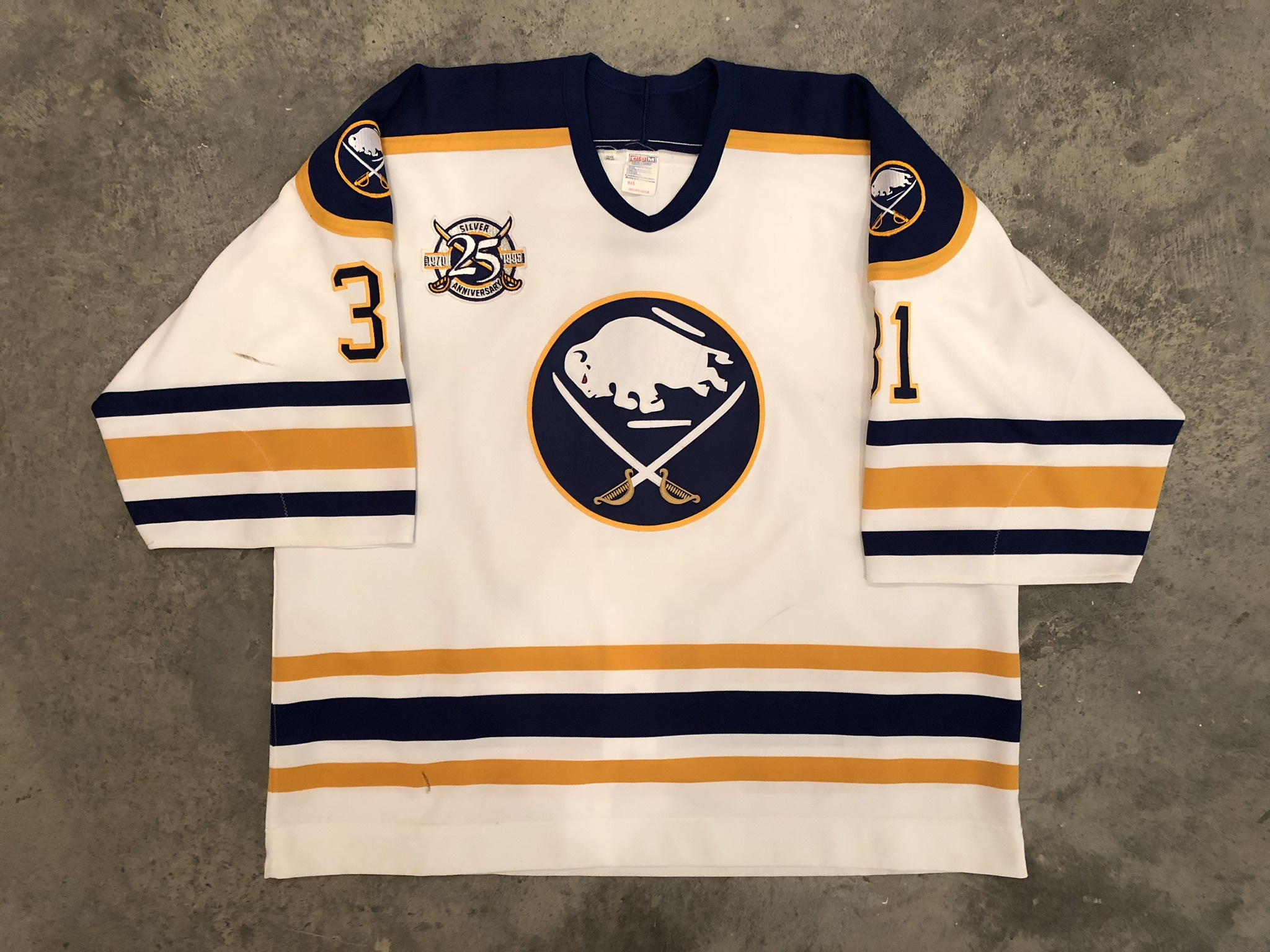 wholesale dealer c3e43 110a9 Team Patched Jerseys — Game Worn Goalie Jerseys