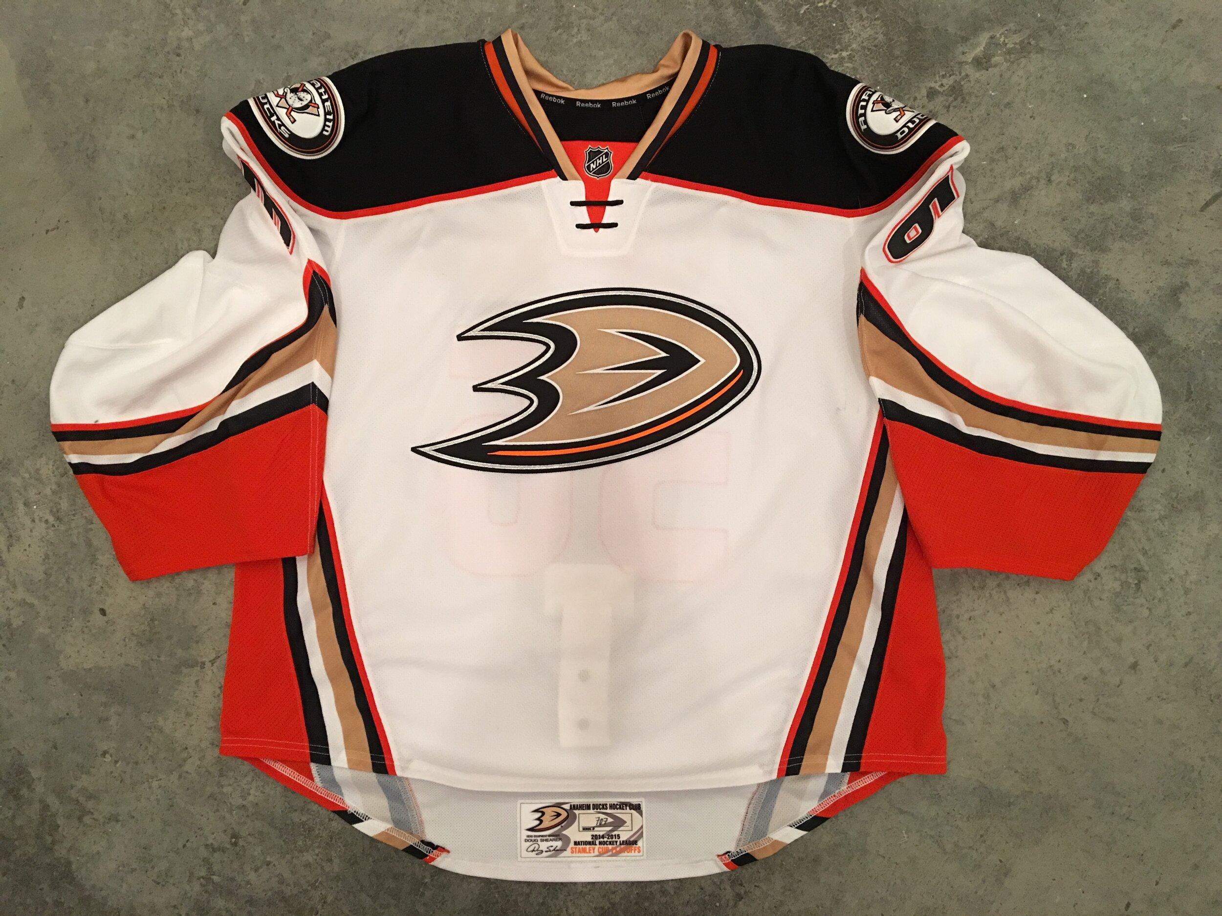 2014-15 John Gibson Anaheim Ducks game worn road jersey - pre-rookie season   For sale or trade - $750