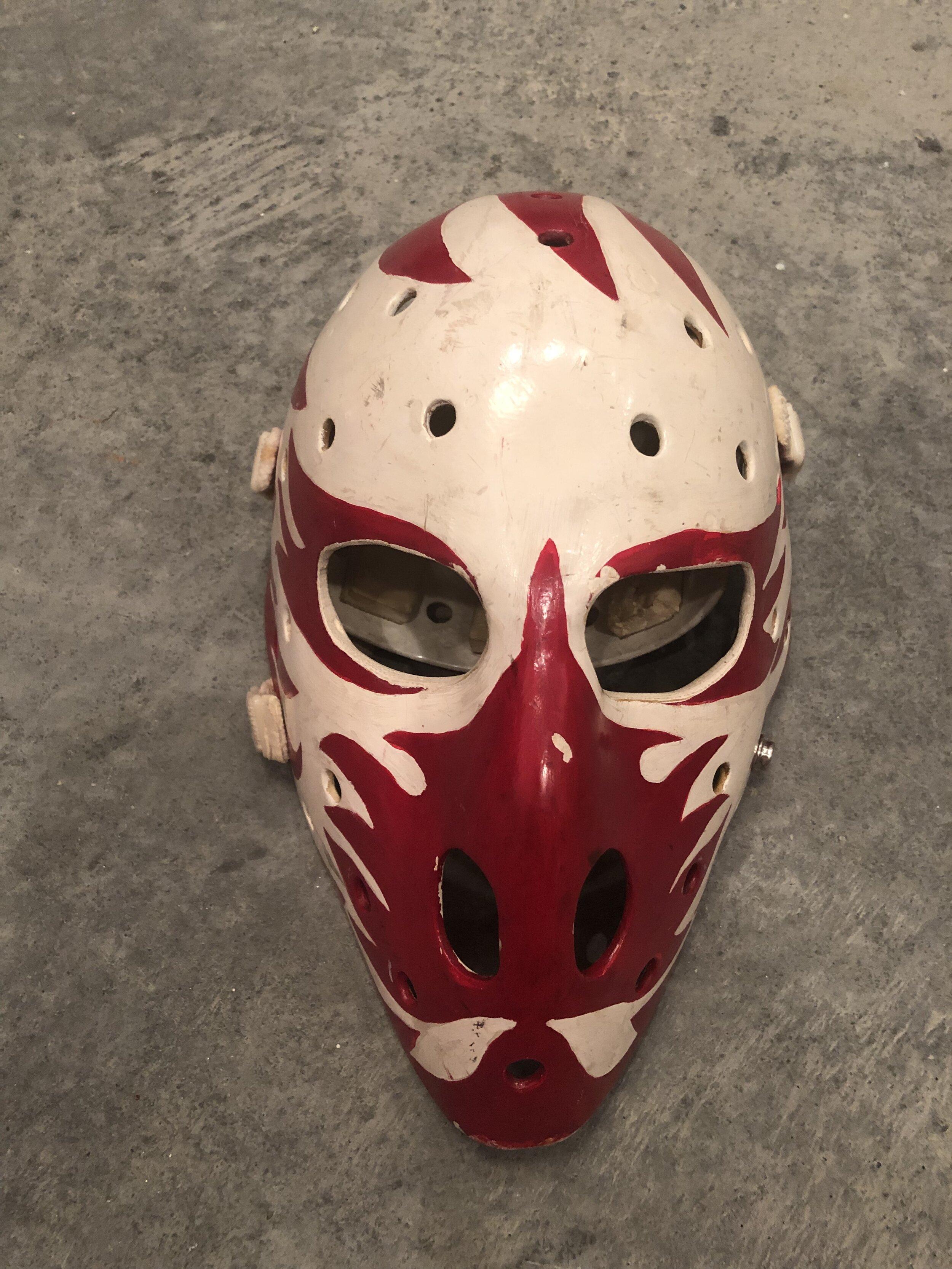 1975-76 Dan Bouchard Atlanta Flames game worn mask