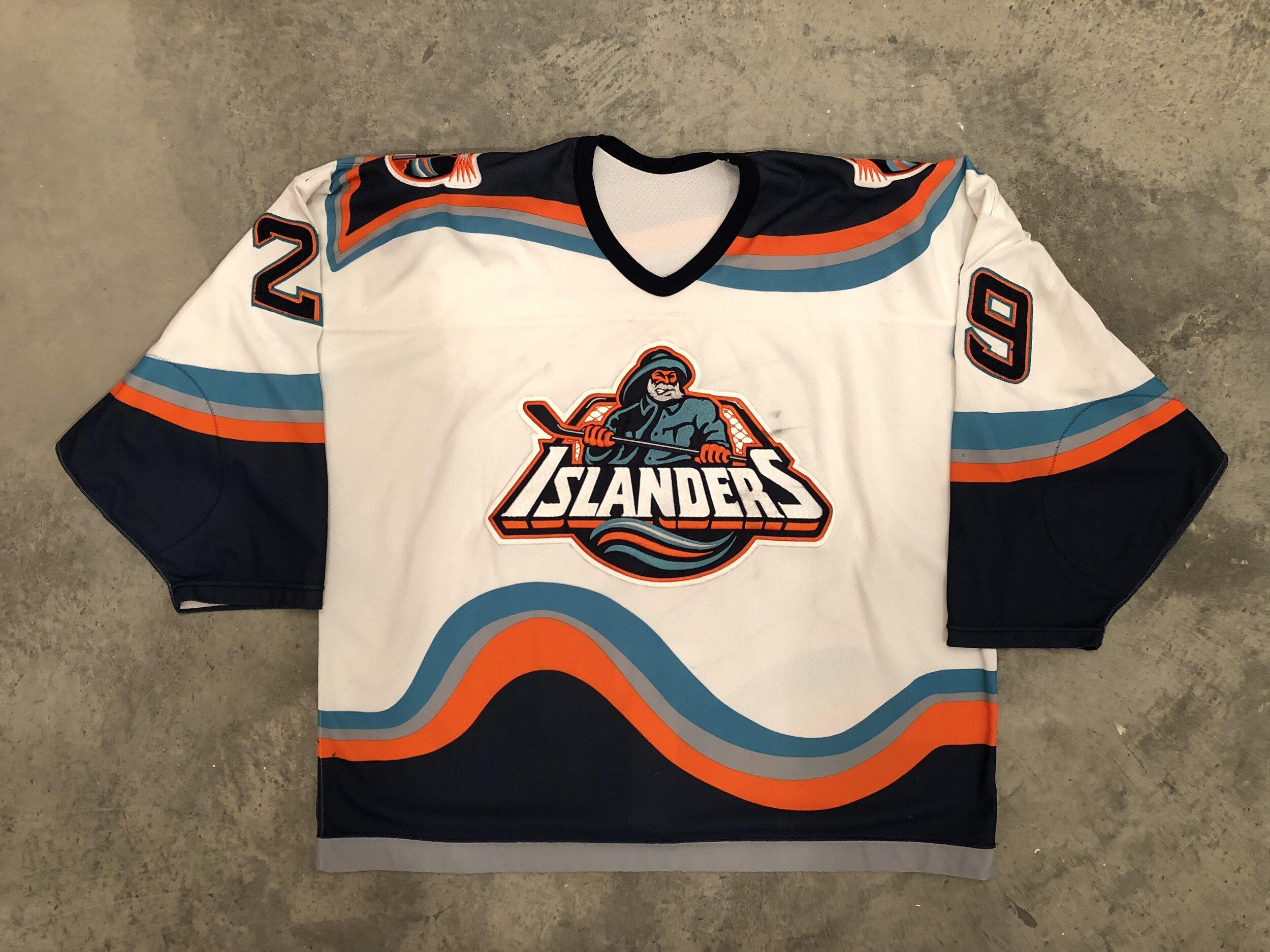1995-96 Jamie MacLennan New York Islanders Fisherman Game Worn Jersey
