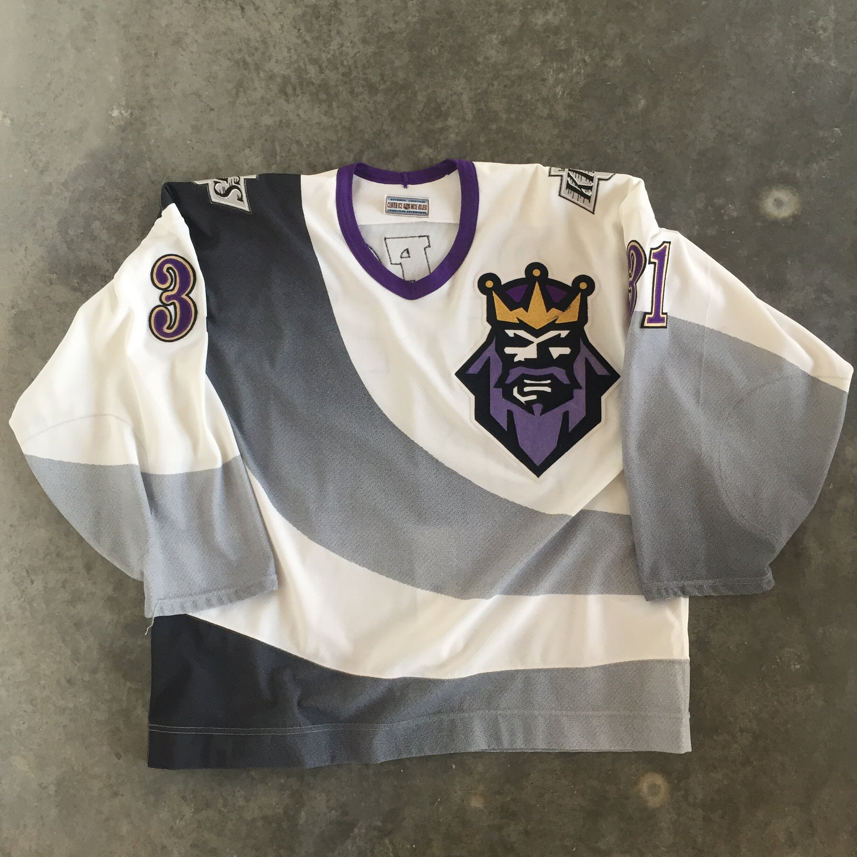 1995-96 Byron Dafoe Los Angeles Kings Burger King Alternate Game Worn Jersey