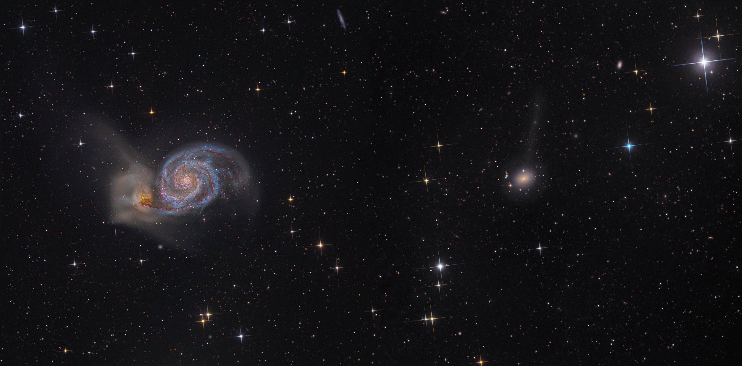 NGC 5198 and M51 Mosaic