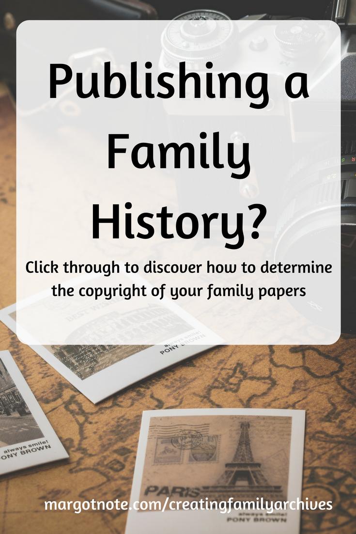 Publishing A Family History?