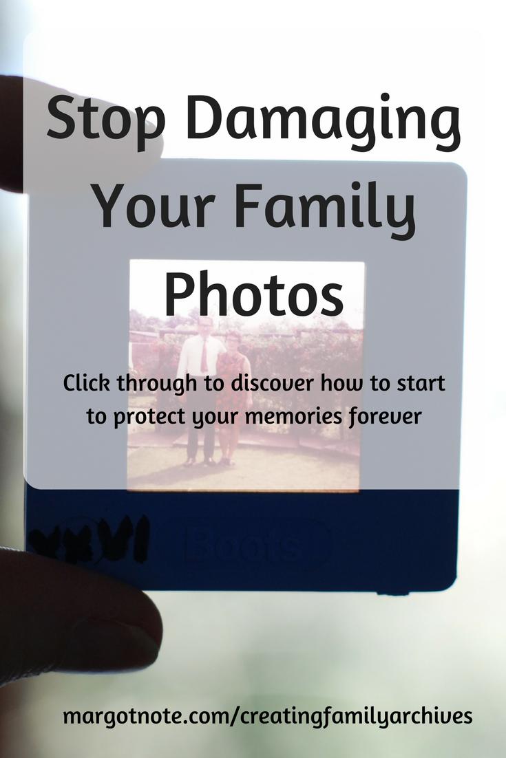 Stop Damaging Your Family Photos