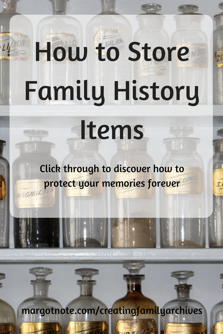 How to Store Family History Items