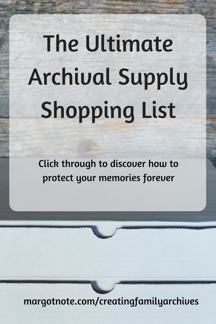 The Ultimate Archival Supply Shopping List