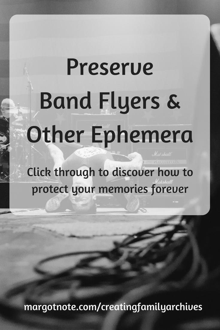 Preserve Band Flyers and Other Ephemera