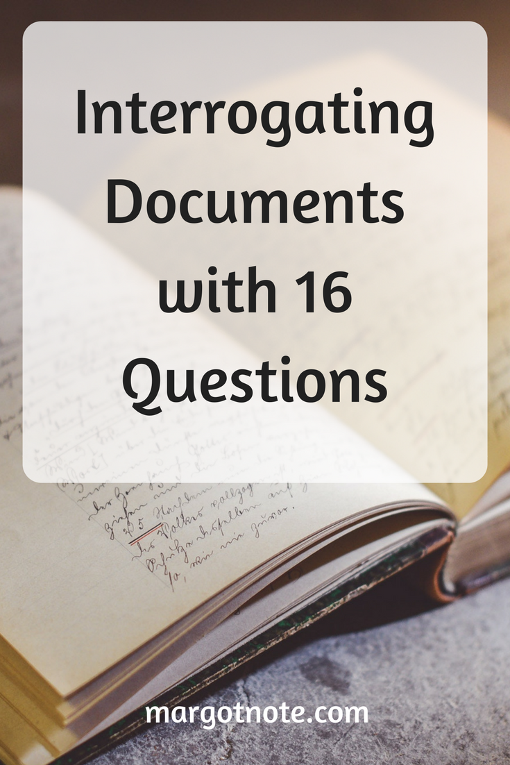 Interrogating Documents with 16 Questions