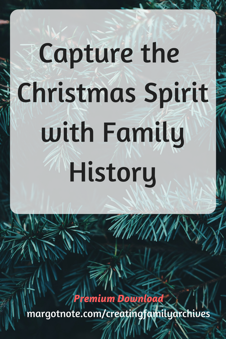 Capture the Christmas Spirit with Family History