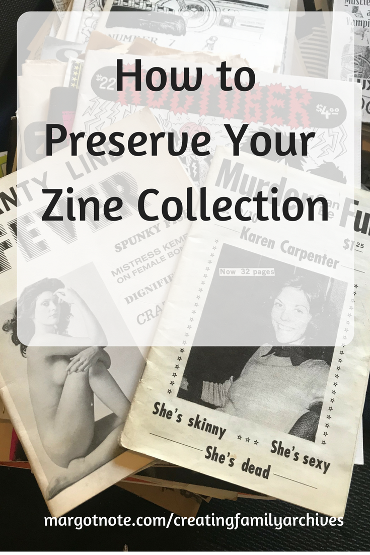 How to Preserve Your Zine Collection