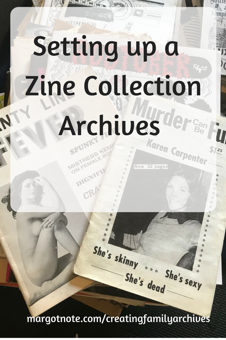 Setting up a Zine Collection Archivesw