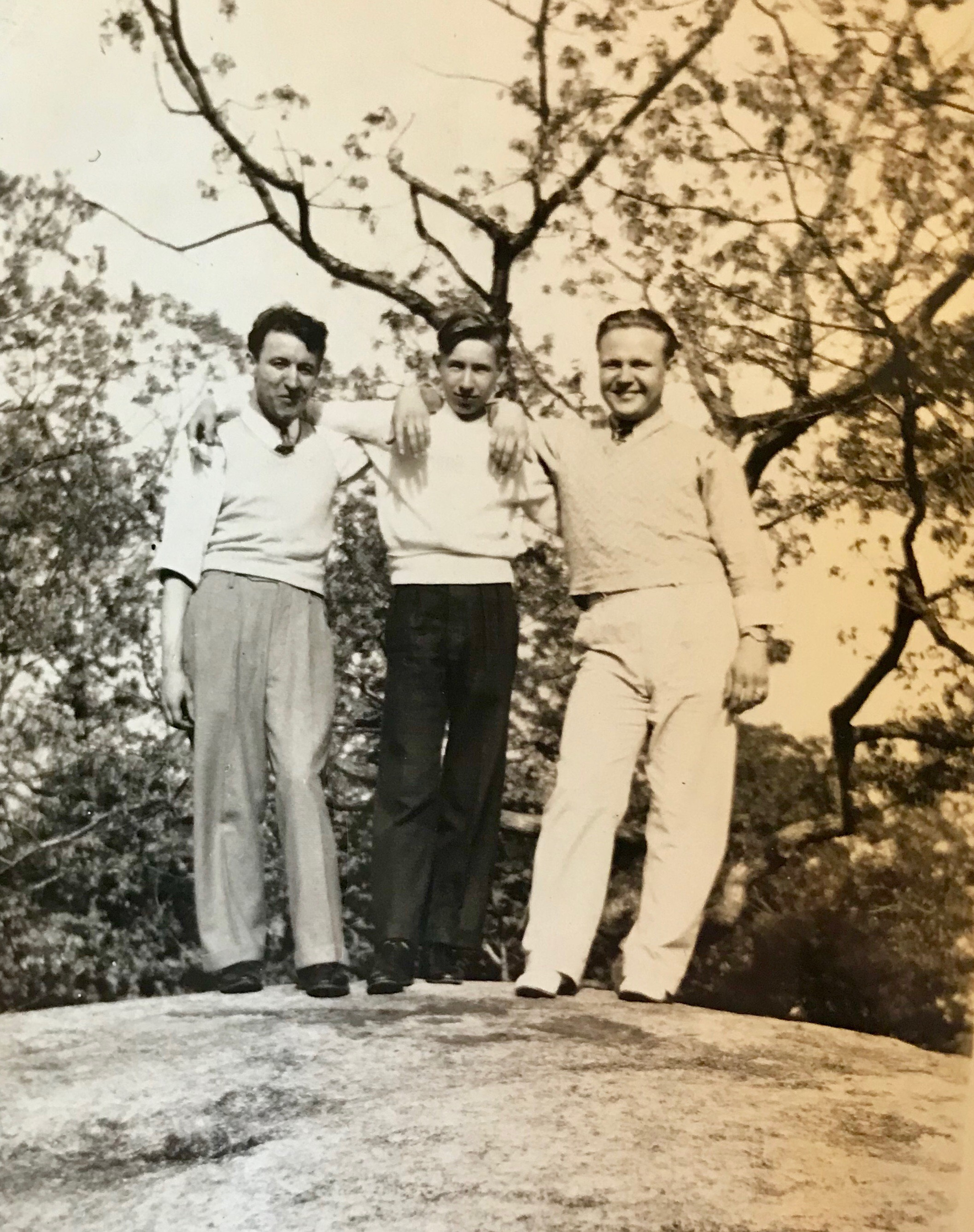 Ray, Joe, and unknown friend from (I'm assuming) the late 1930s