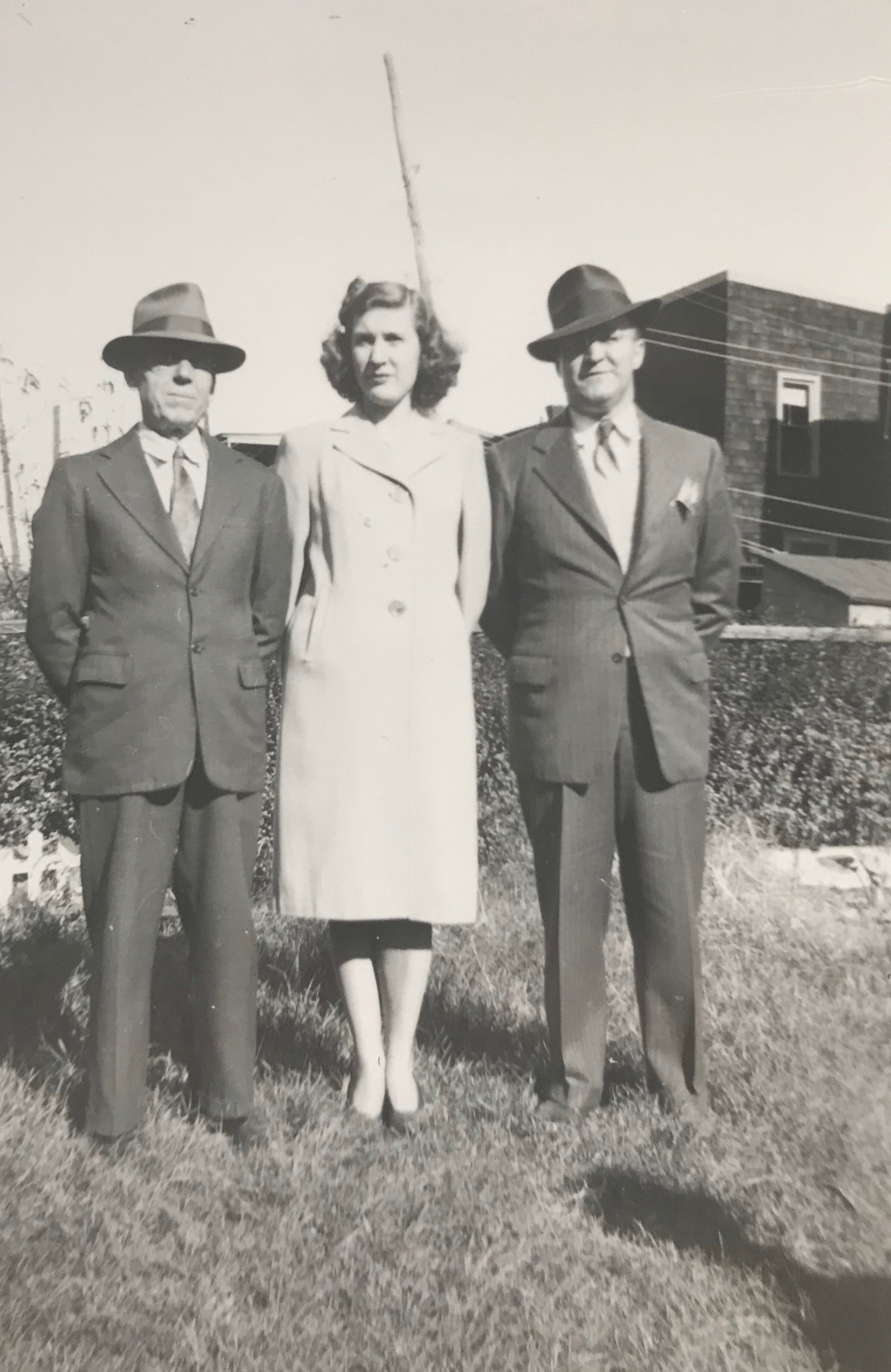 "My grandmother wrote on the back of this photograph, ""Pop Zabit, Ann + Ray Note."""