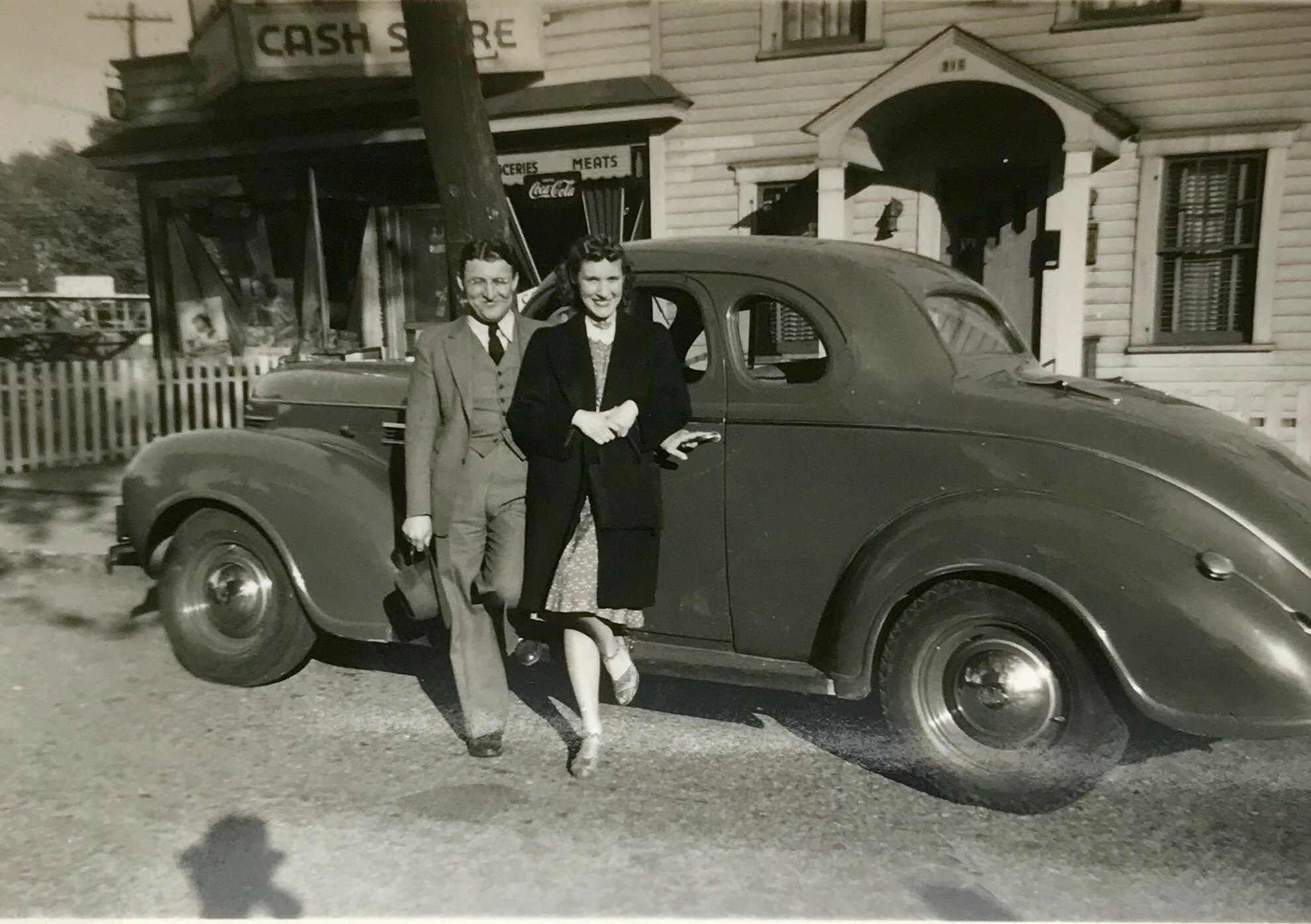 Newlyweds Ray and Ann, 1941