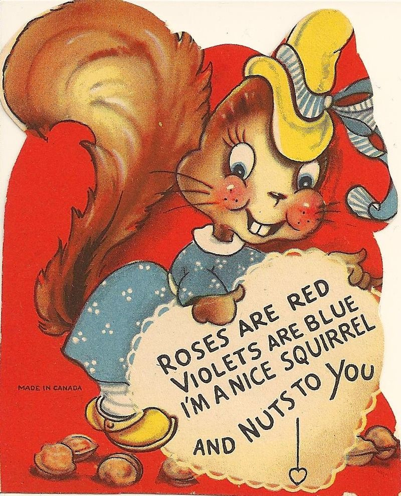 A typical 1940s era Valentine's Day card, courtesy Wikimedia Commons