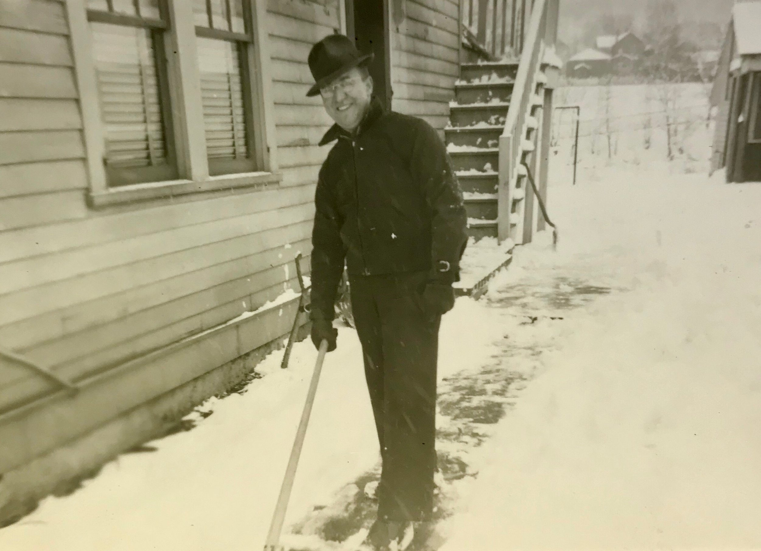"""My grandmother wrote on the back of this photograph, """"Ray Scranton, Pa 1941."""""""