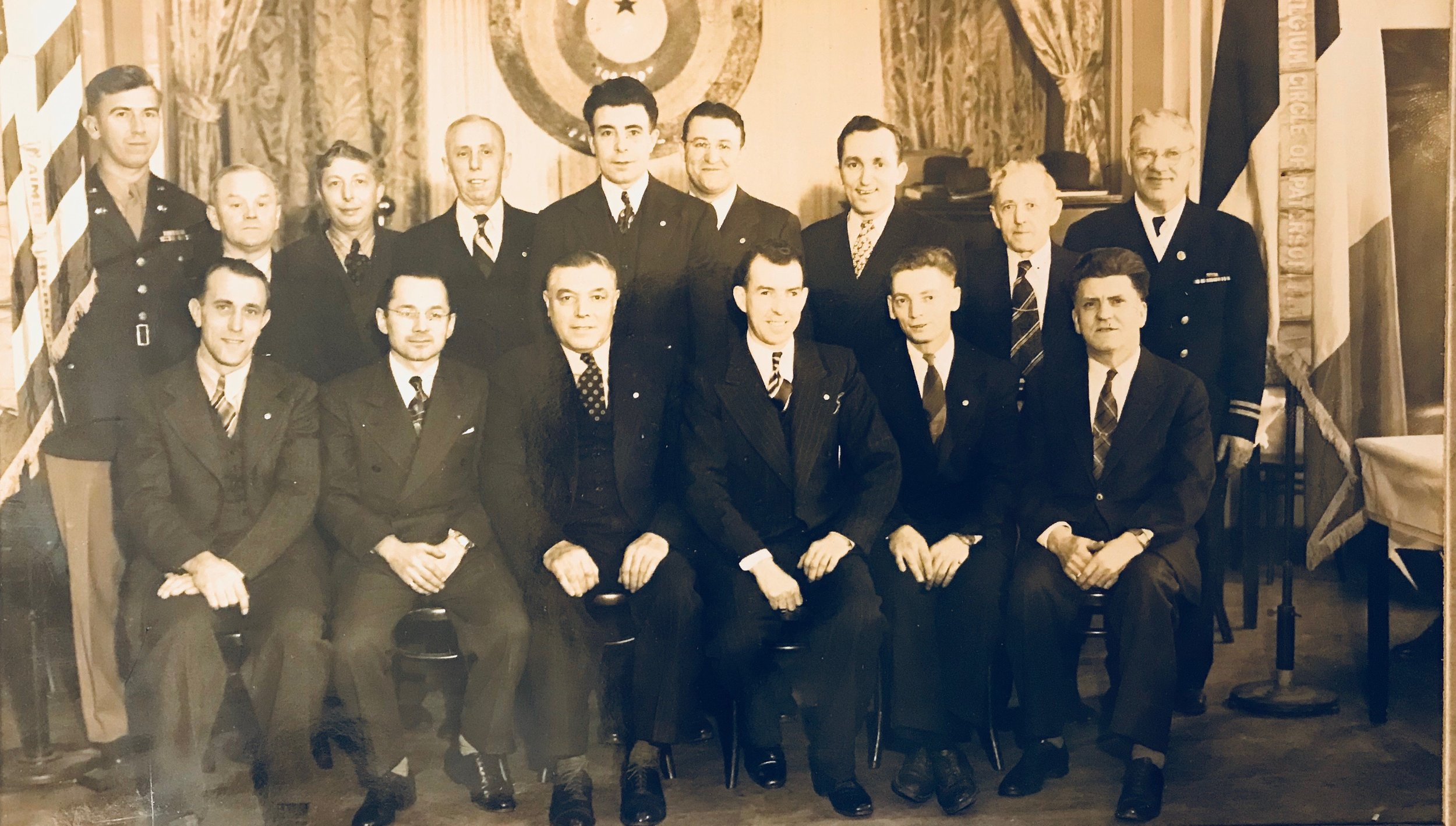 The Belgian Circle of Paterson, New Jersey from the 1950s. Grandpa's in the back row, center, next to the guy who looks like Albert Camus.