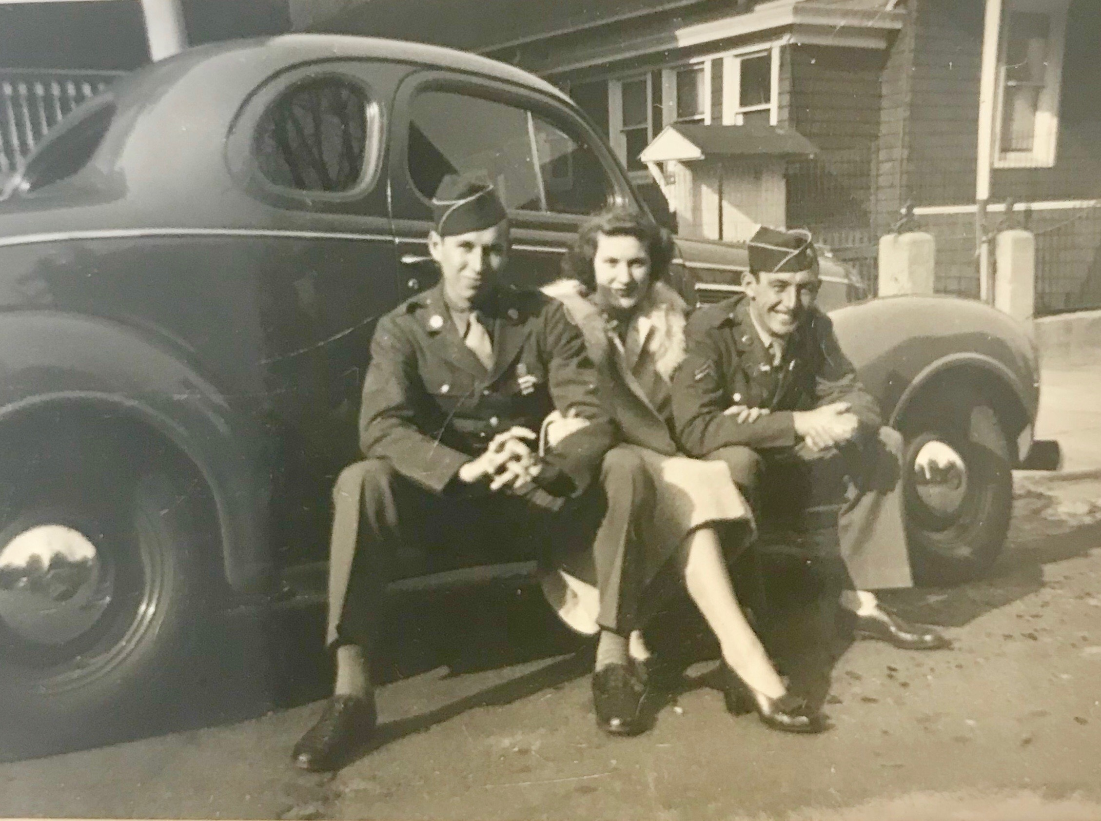 An undated photograph with Bob, Ann, and Charles